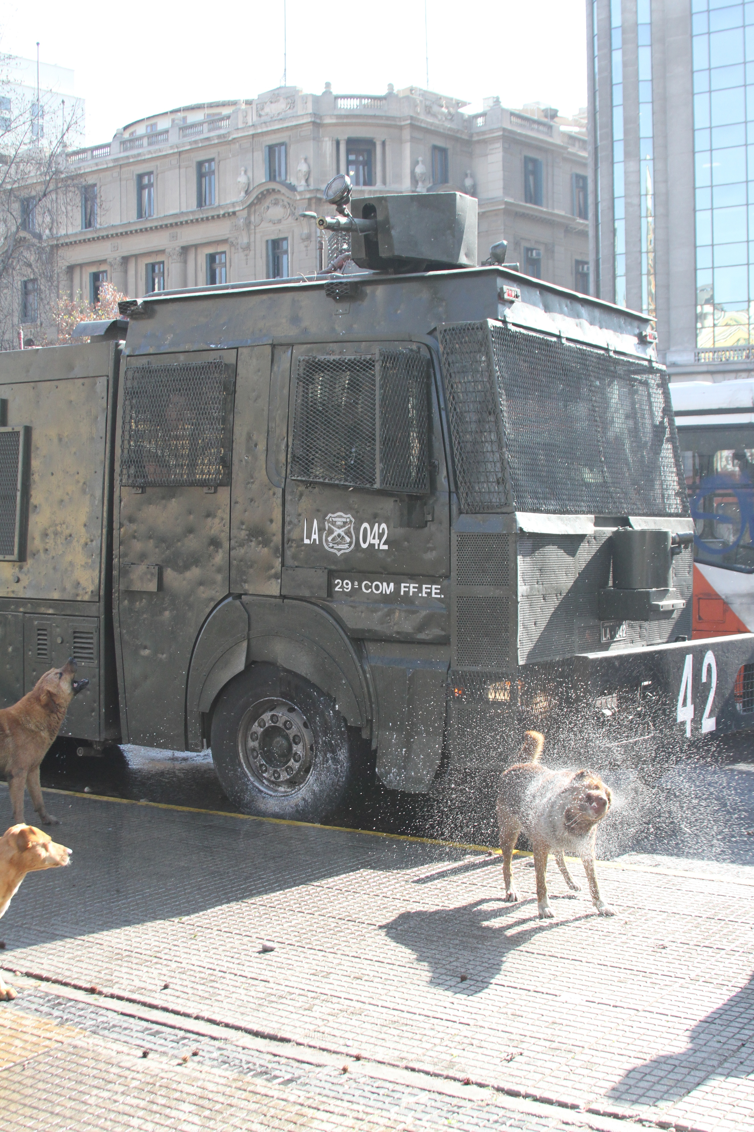 Tank at Protest