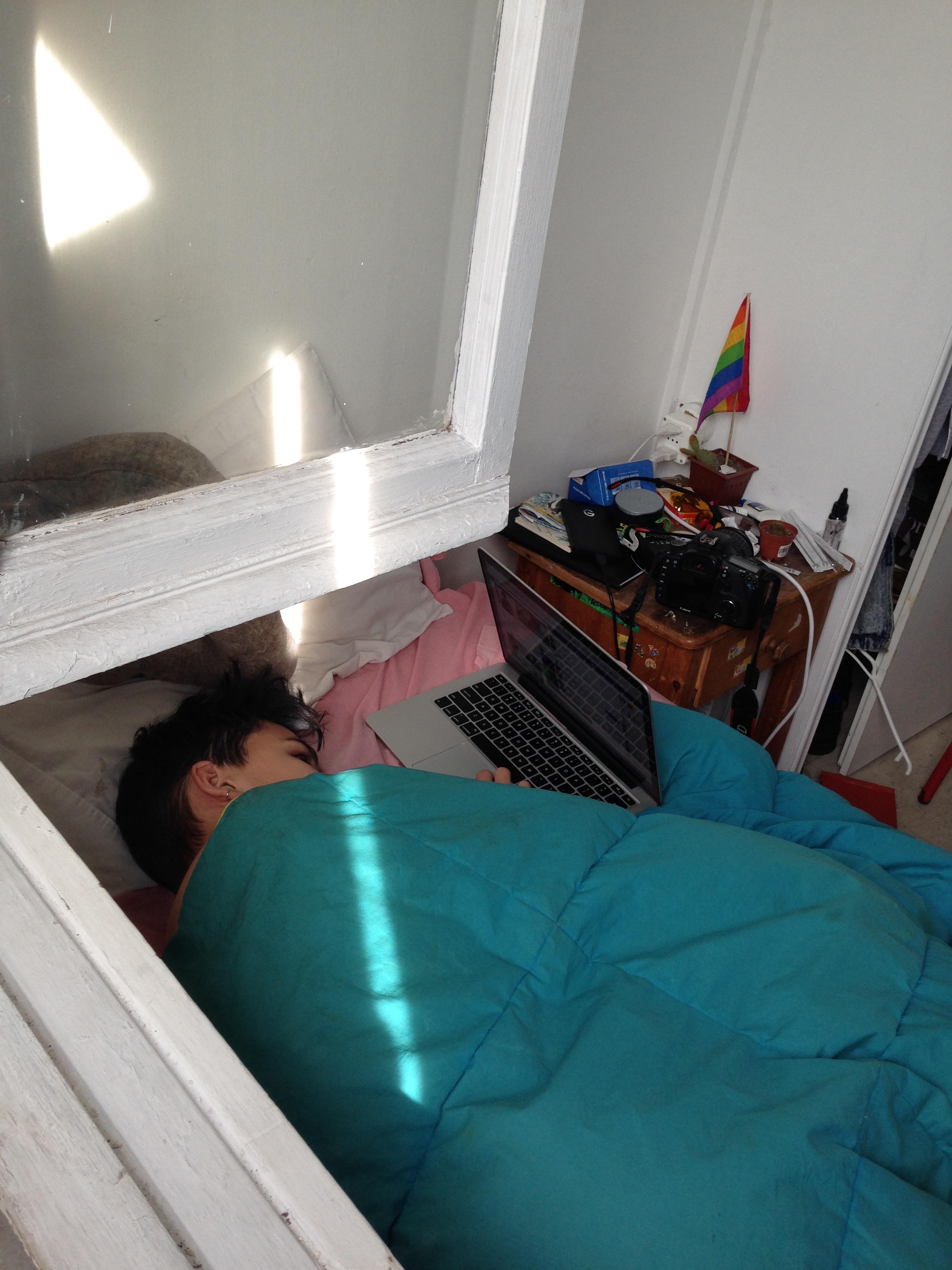 Sleeping Beauty in his Bedroom