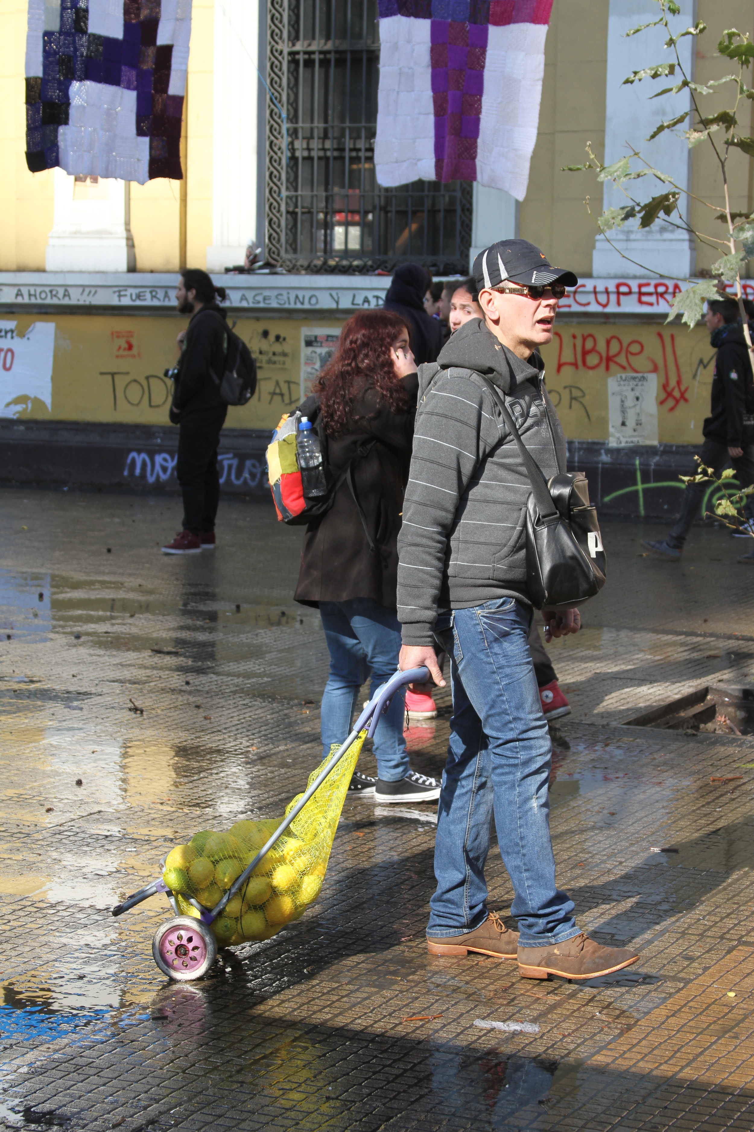 Man Selling Lemons to Counteract the Gas