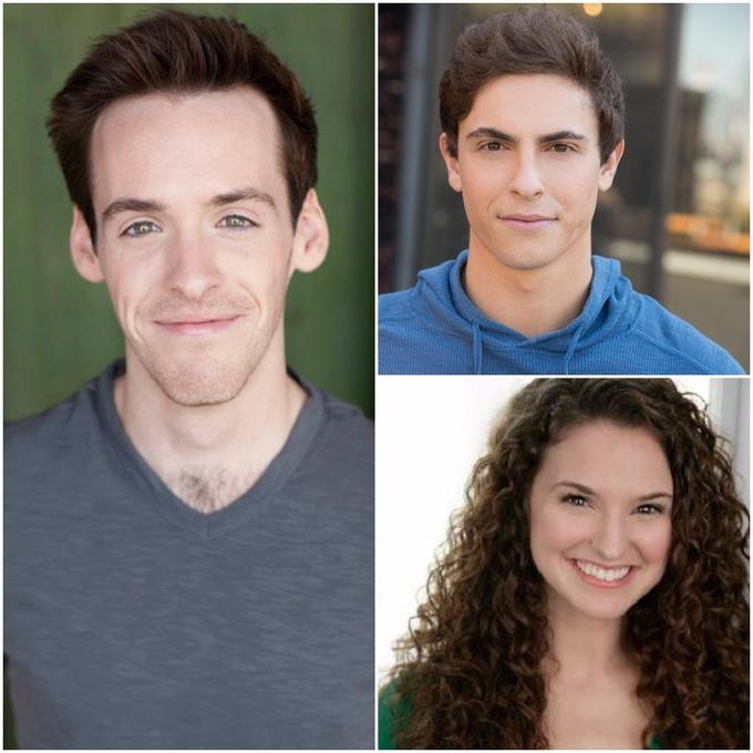 Sean Doherty (left), Derek Klena (top), Melissa Mitchell (bottom)