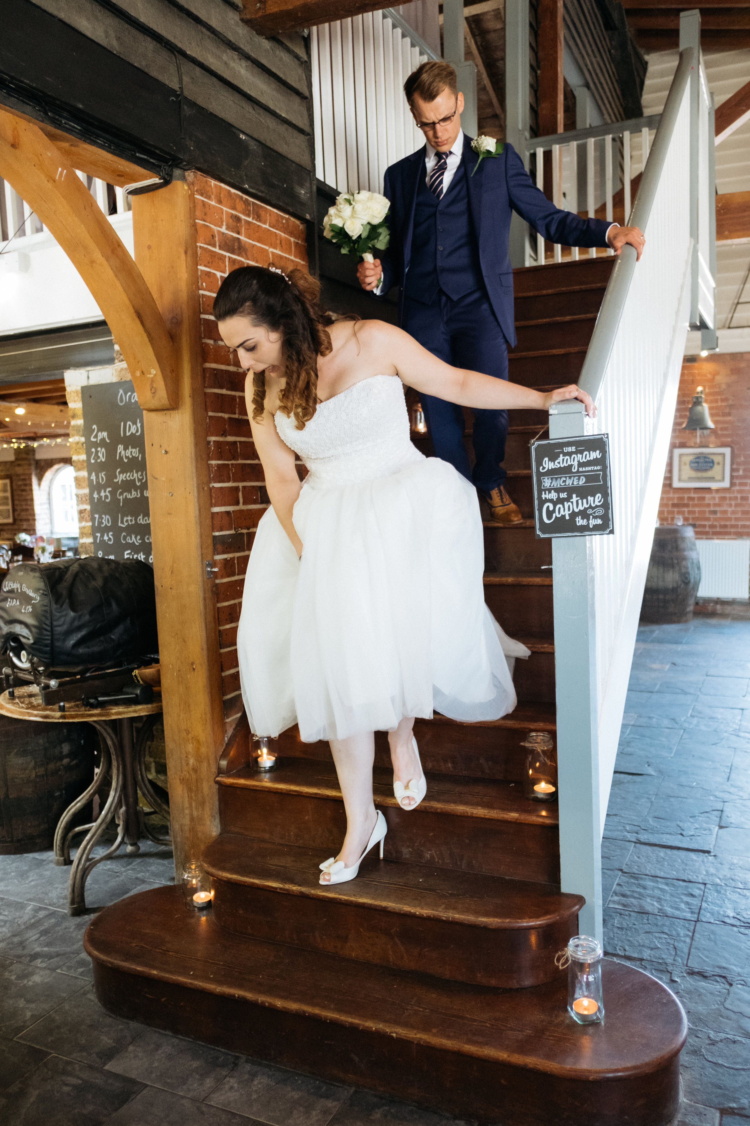 Just married at East Quay wedding venue