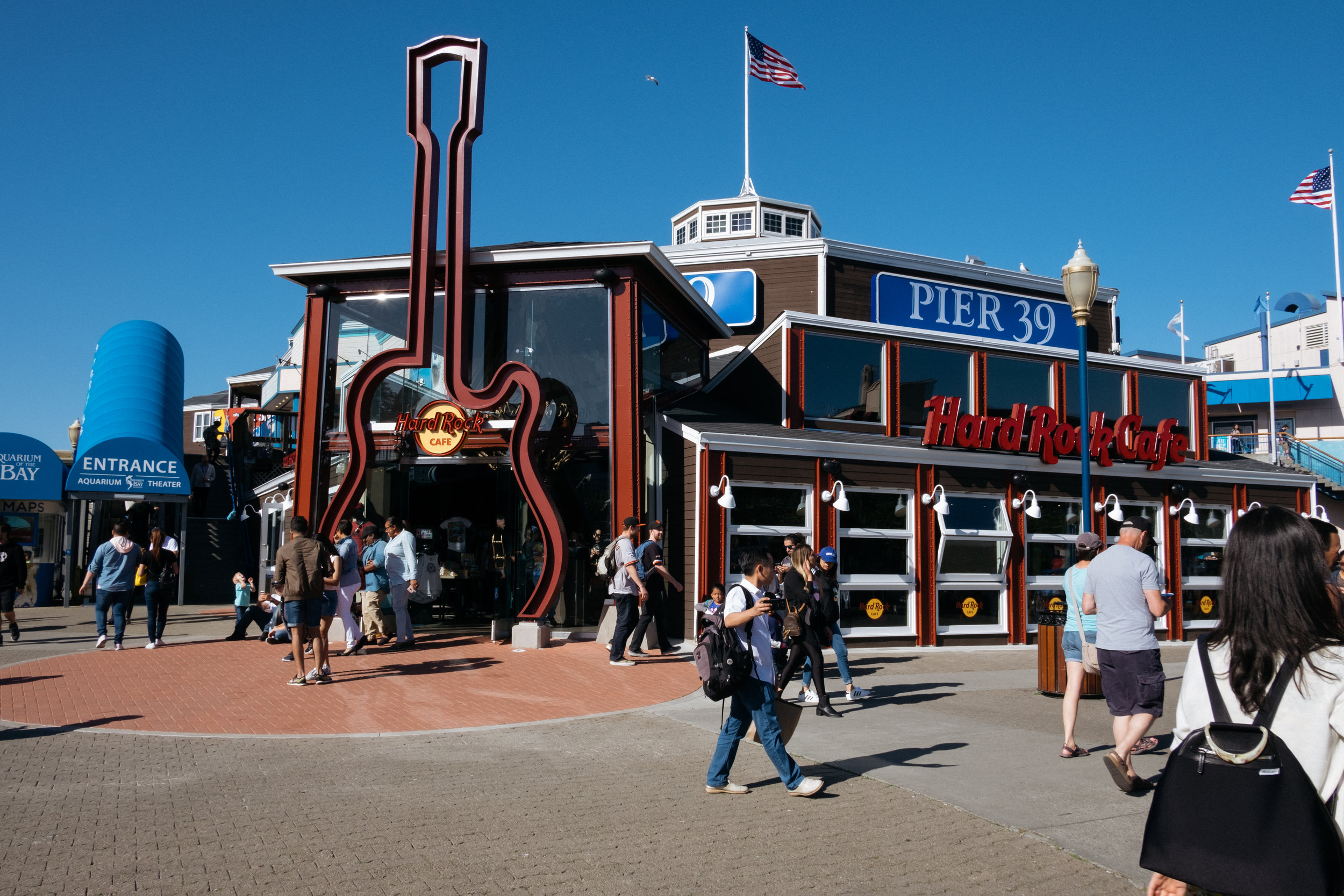 The Hard Rock Cafe at Pier 39 in San Francisco