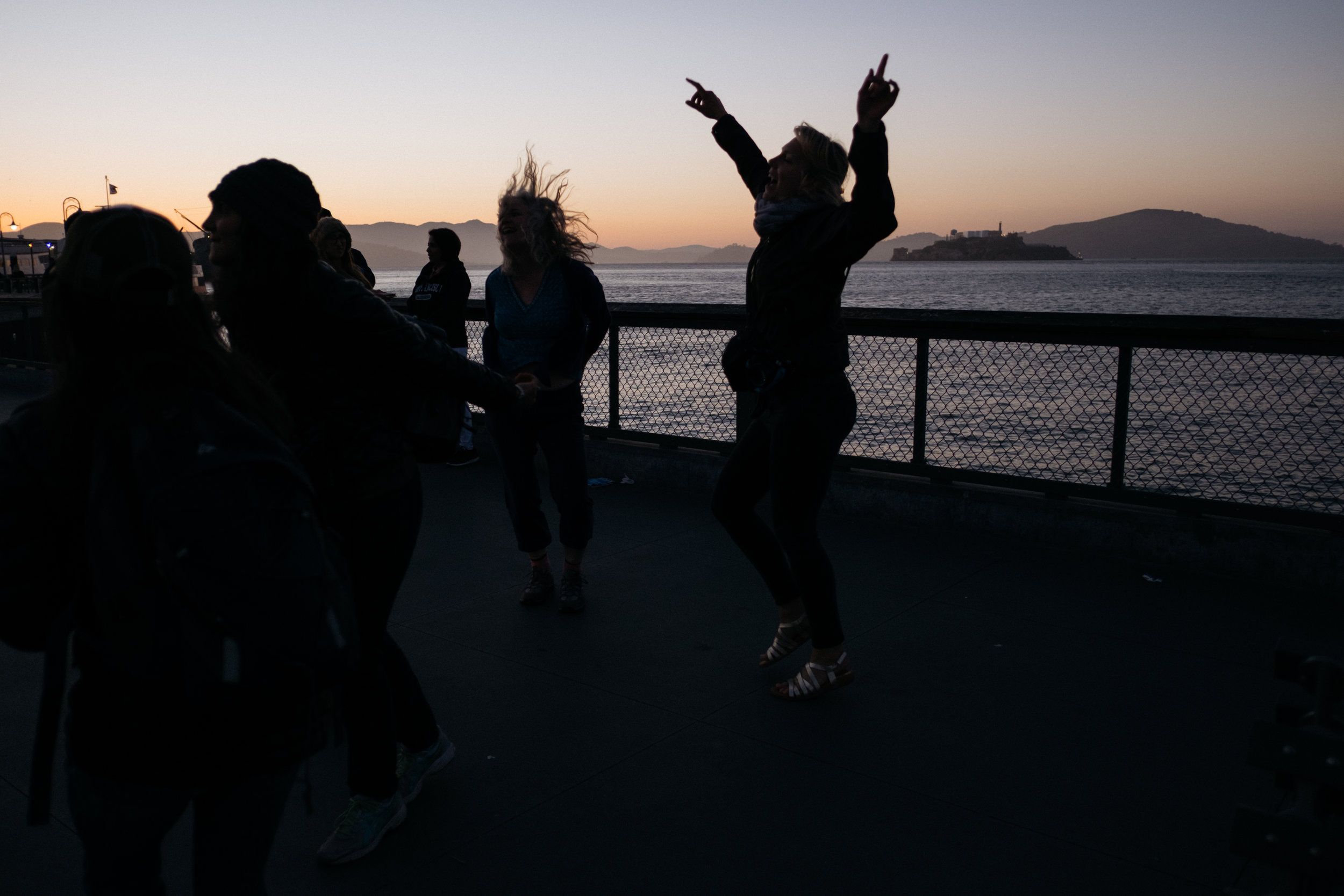 Dancer silhouette in San Francisco