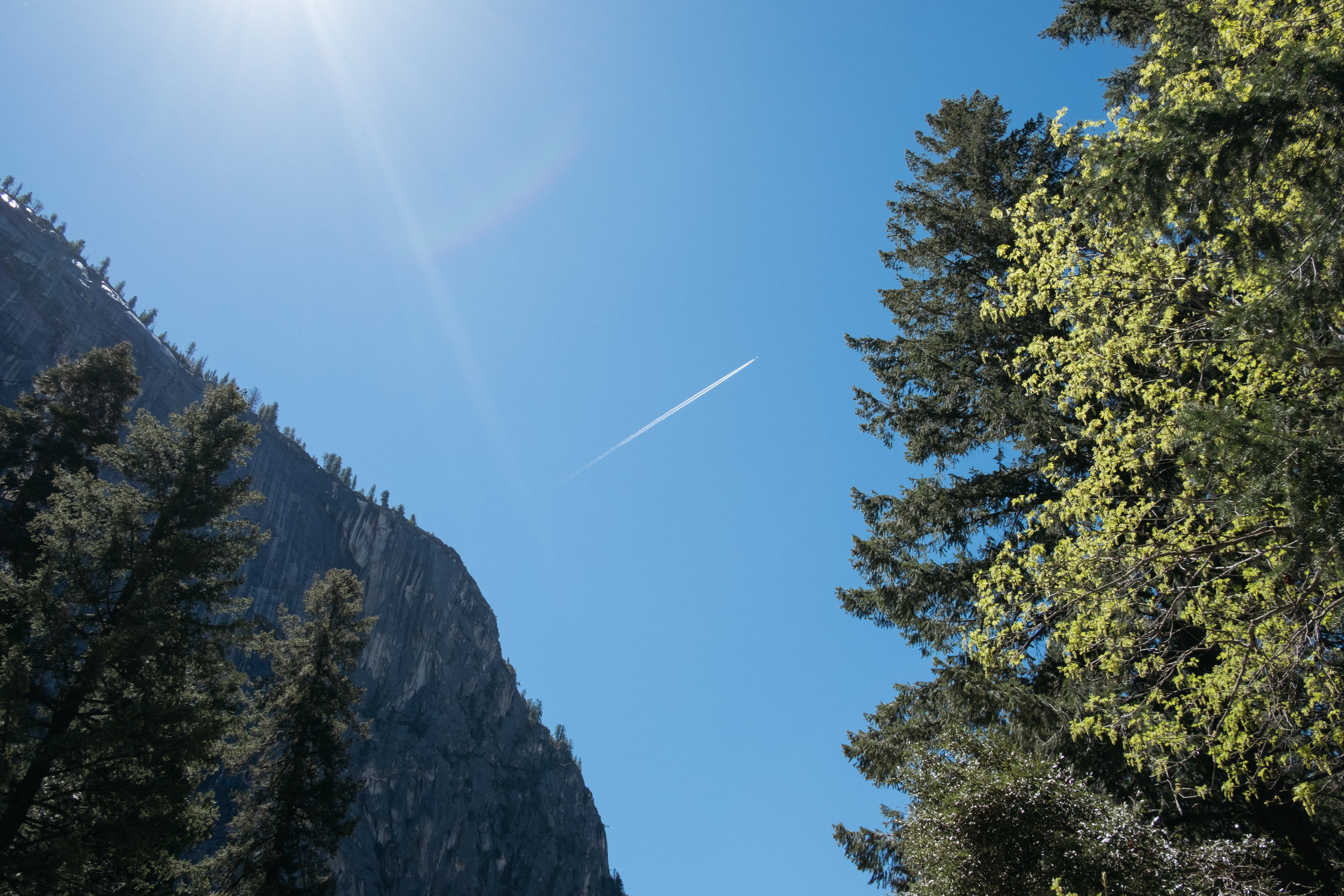 The sky in Yosemite National Park