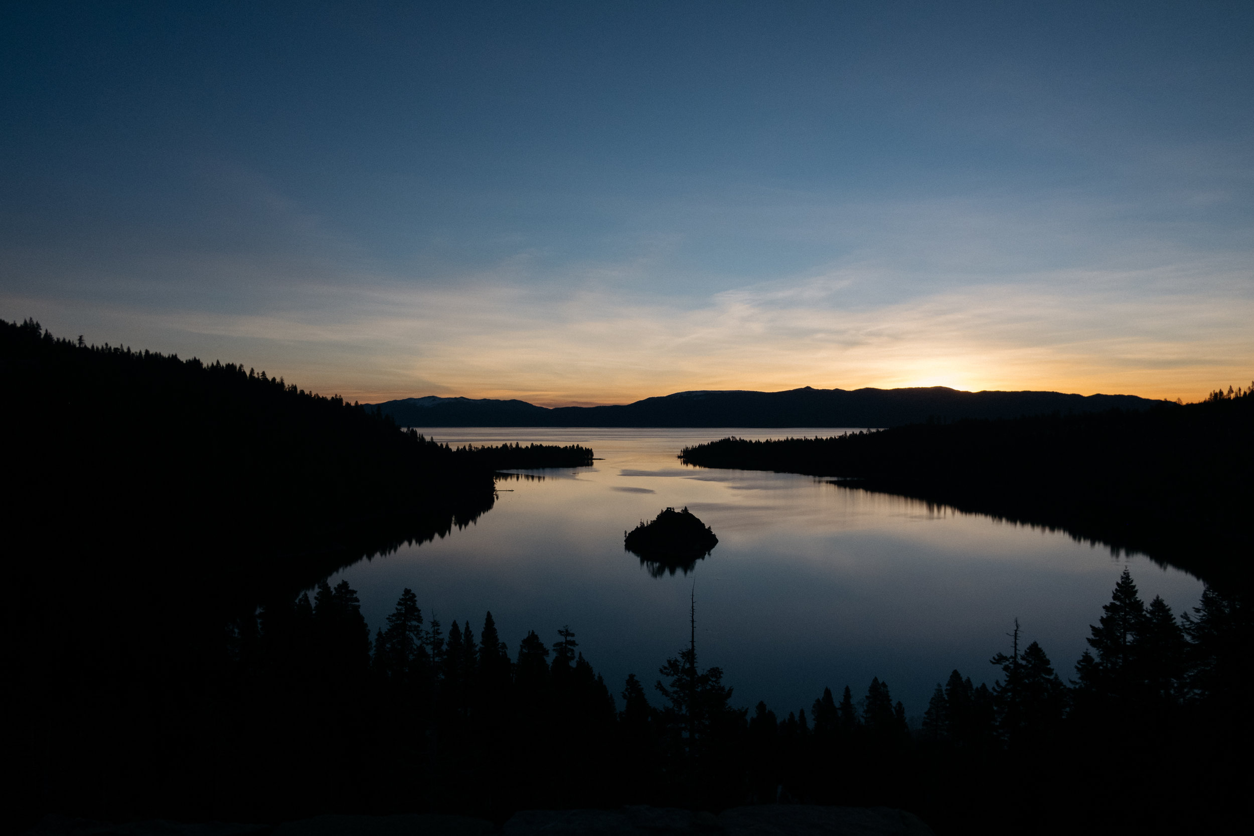 Emerald Bay at sunrise