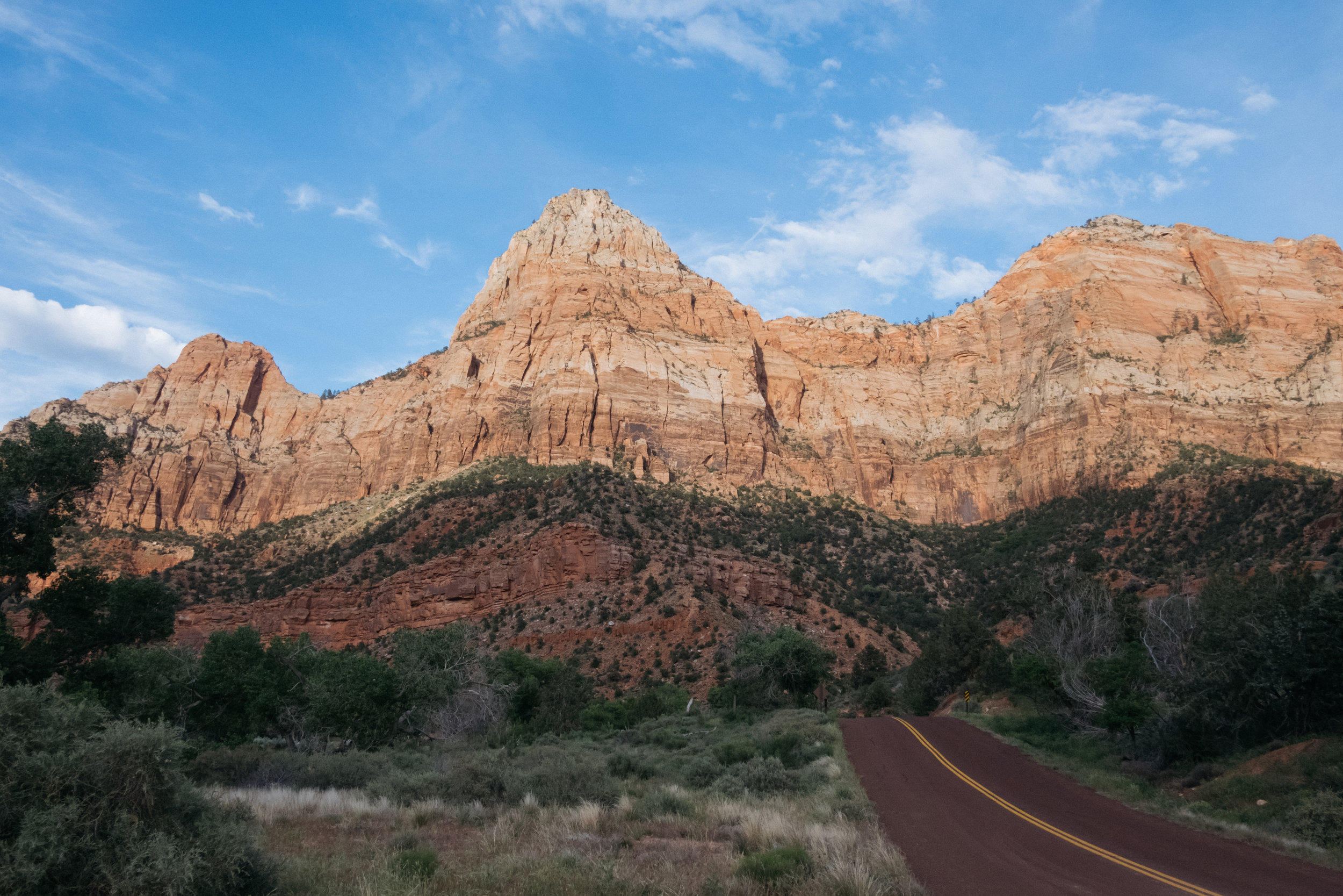 Zion National Park with road