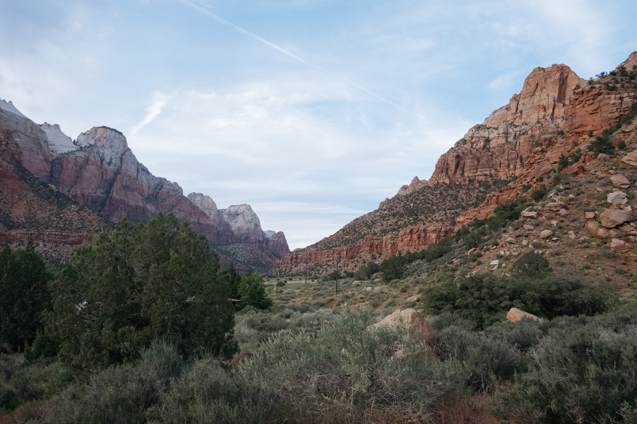 Zion after sunset
