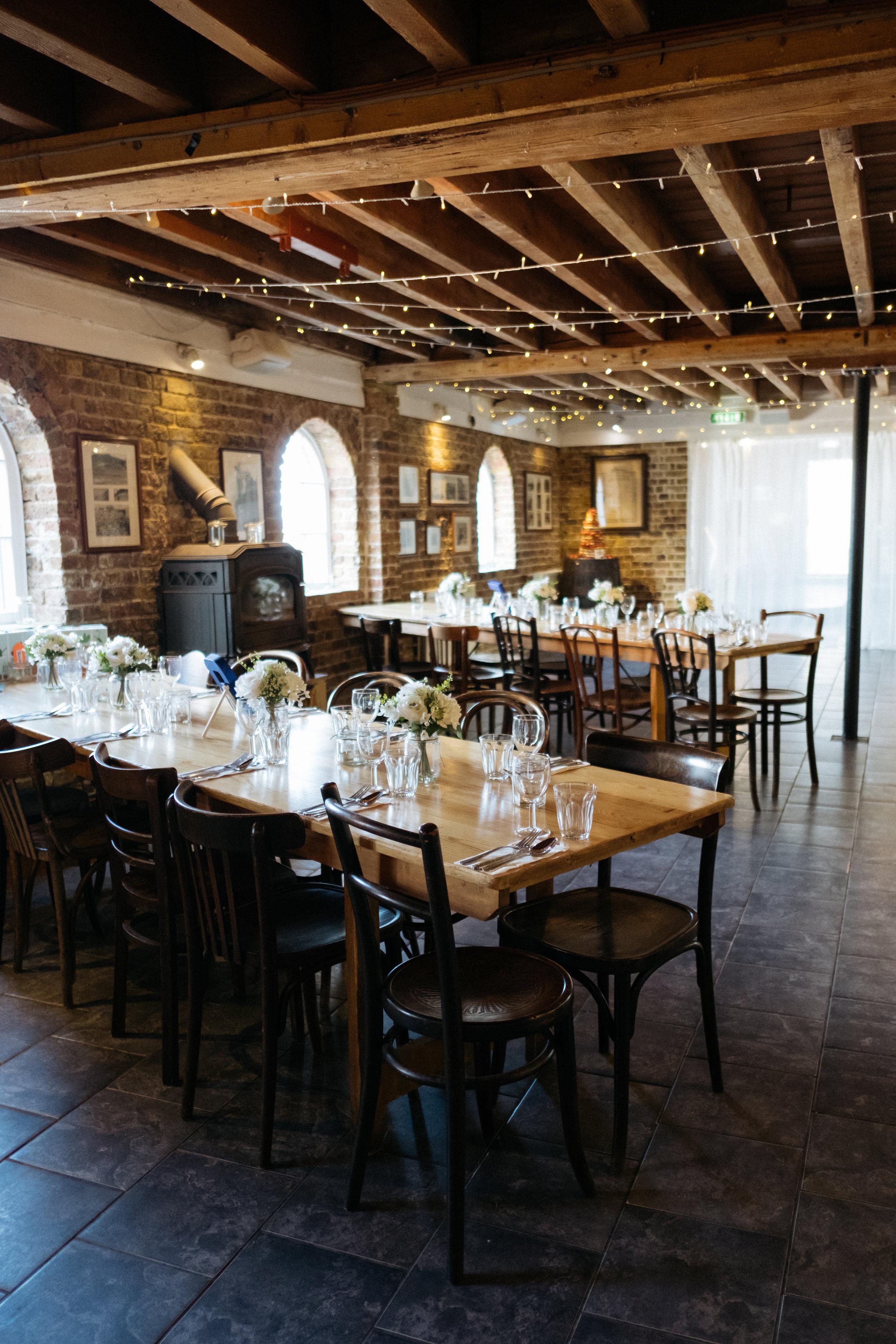 East Quay wedding venue decor