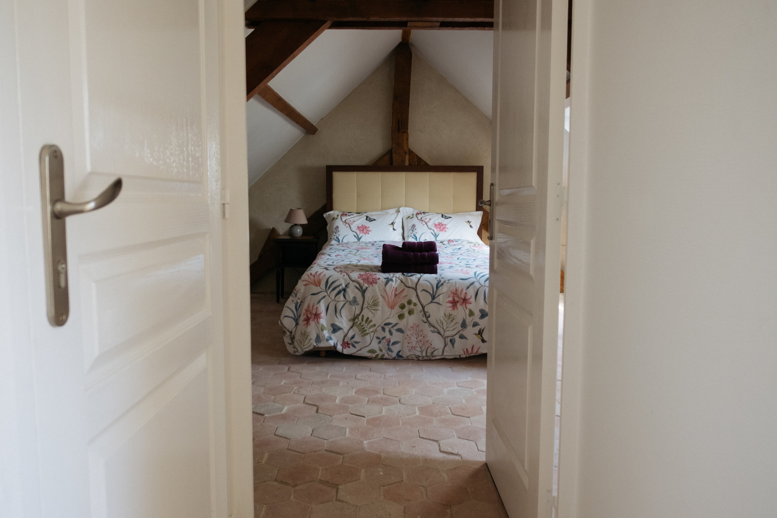 Bedroom in French gîte | Alternative Honeymoon Inspiration