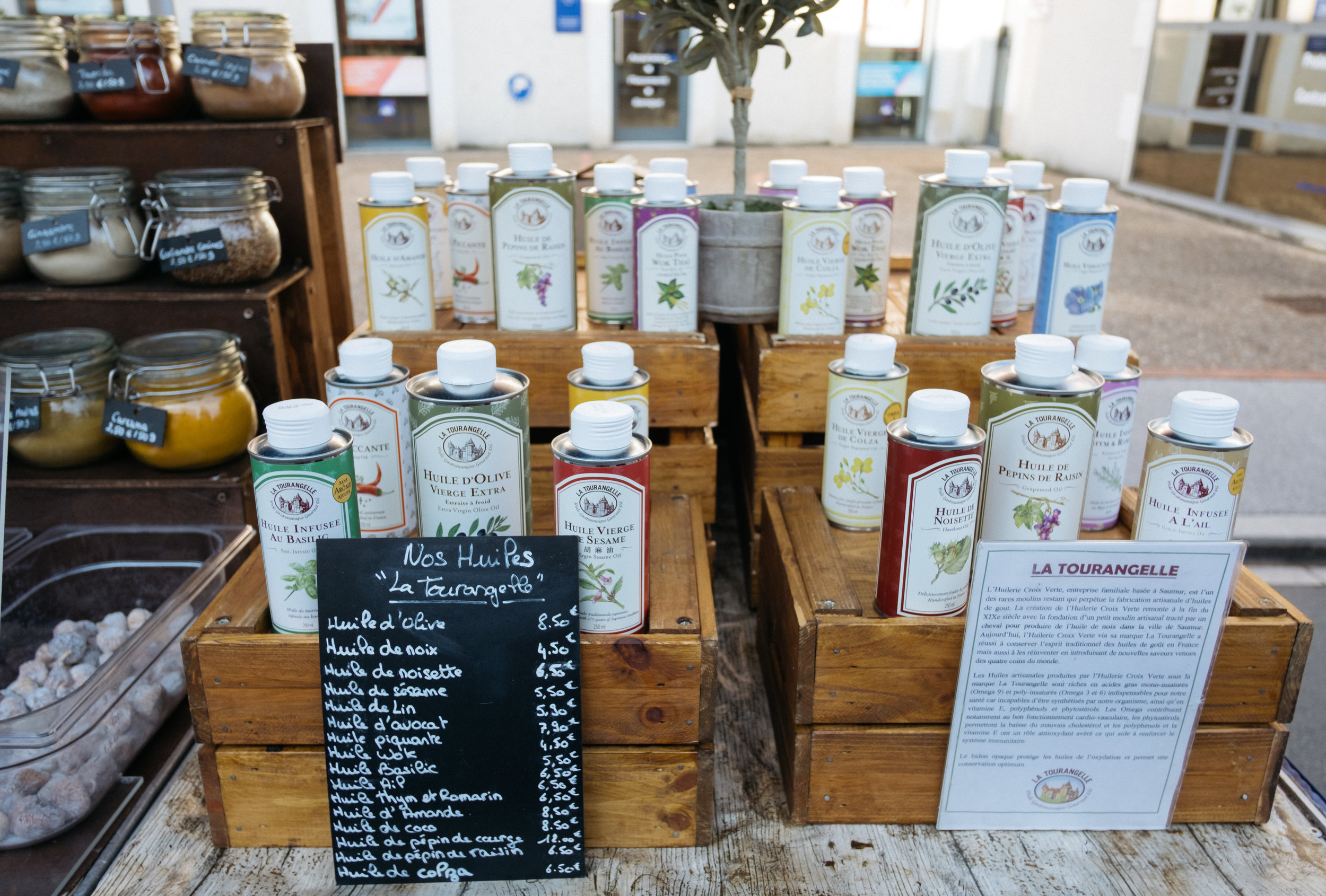 French soap market stall