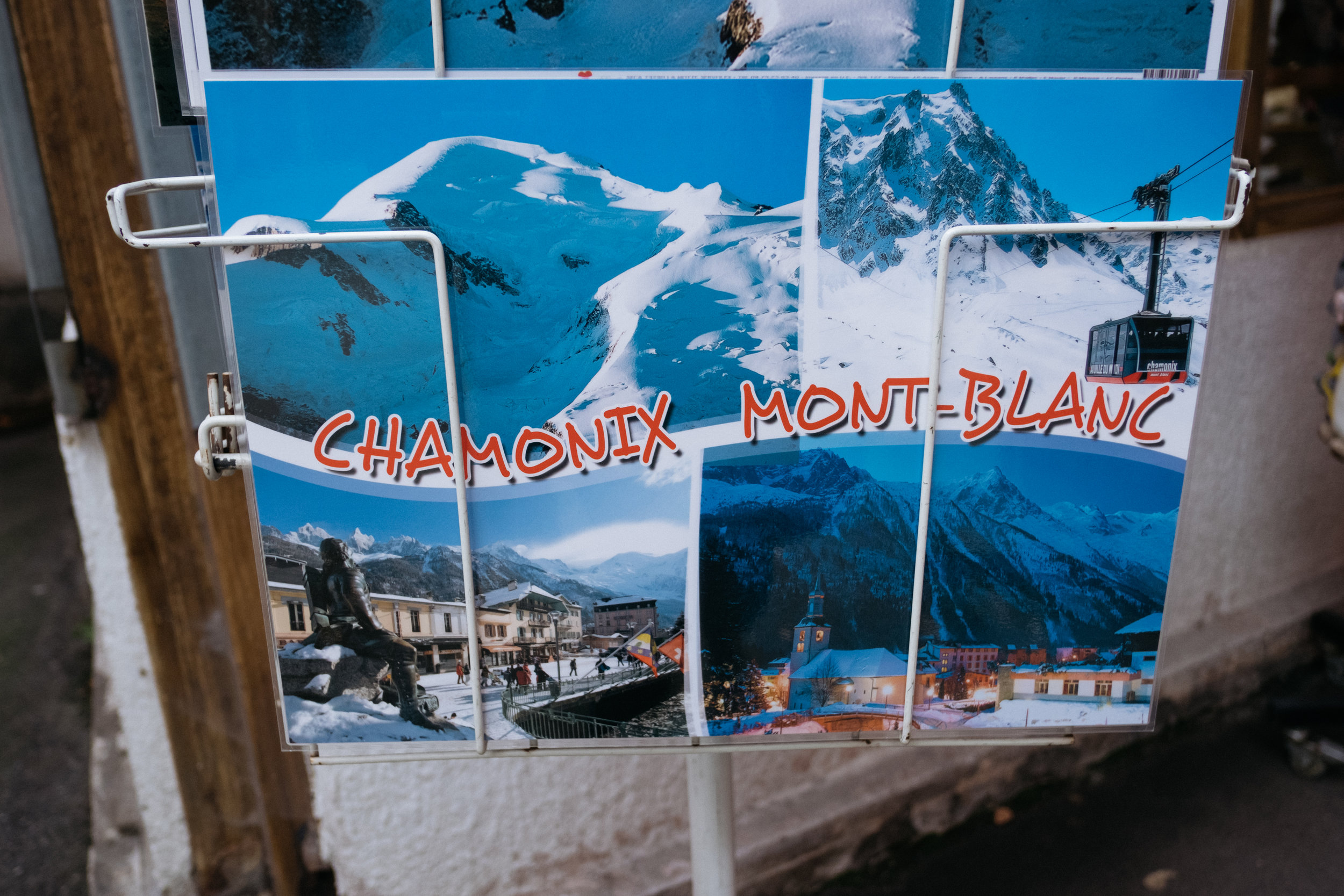 Chamonix postcard