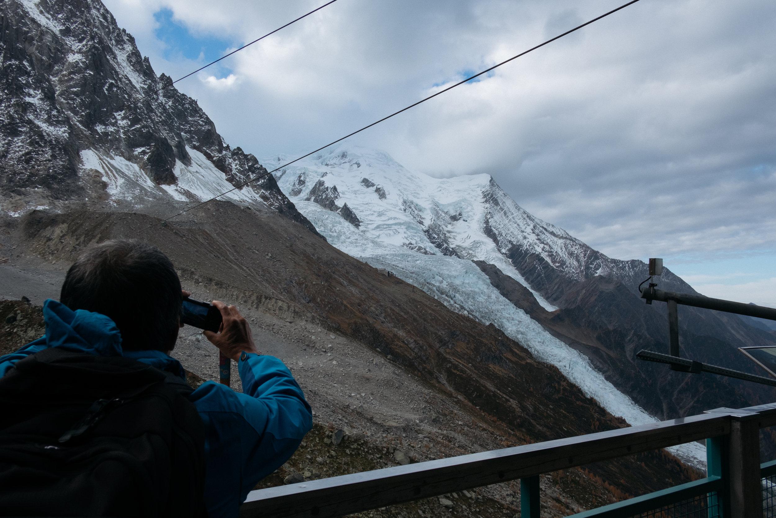 l'aiguille du midi cable car Mont Blanc