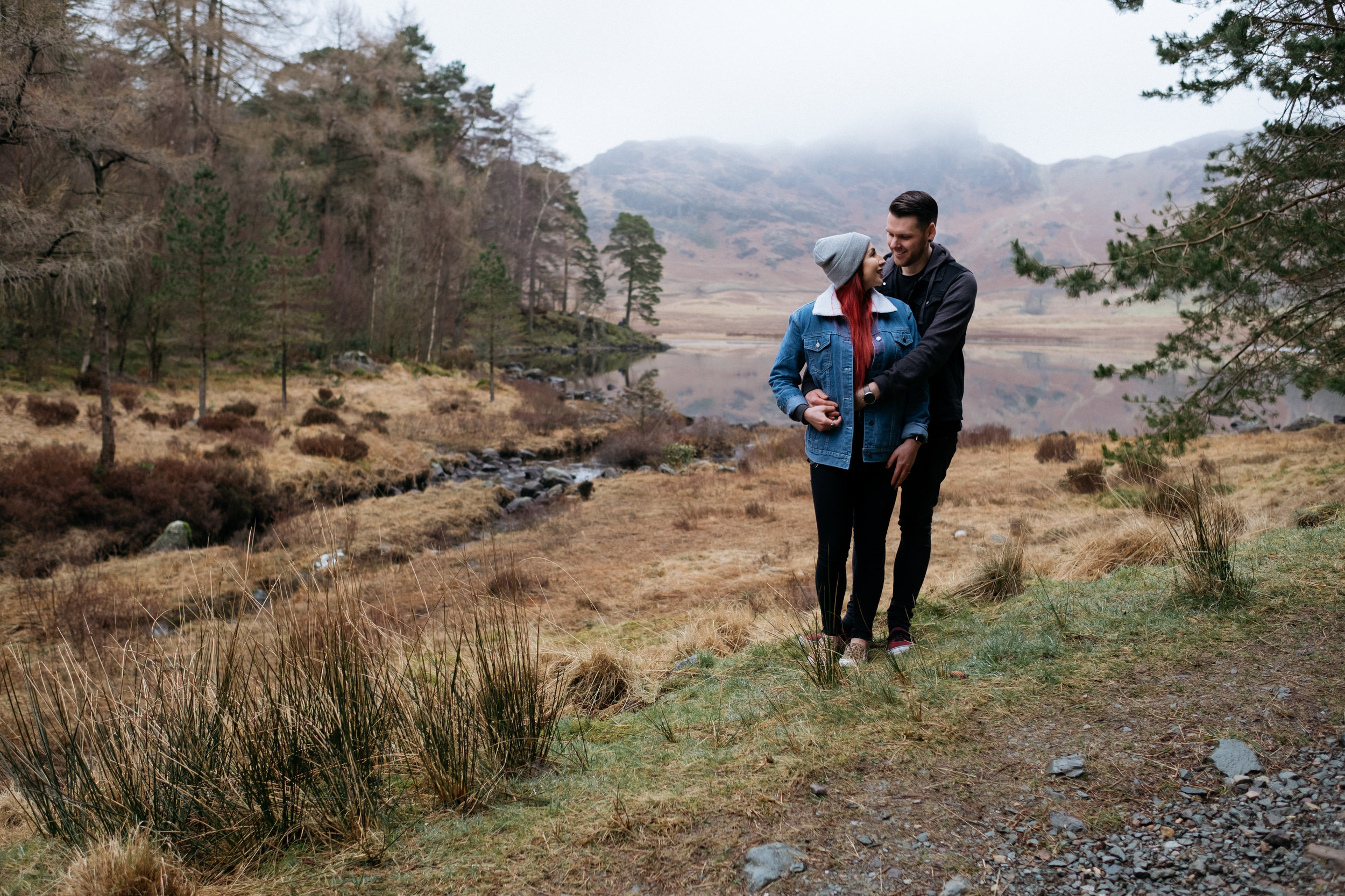 Alternative Blea Tarn engagement photography