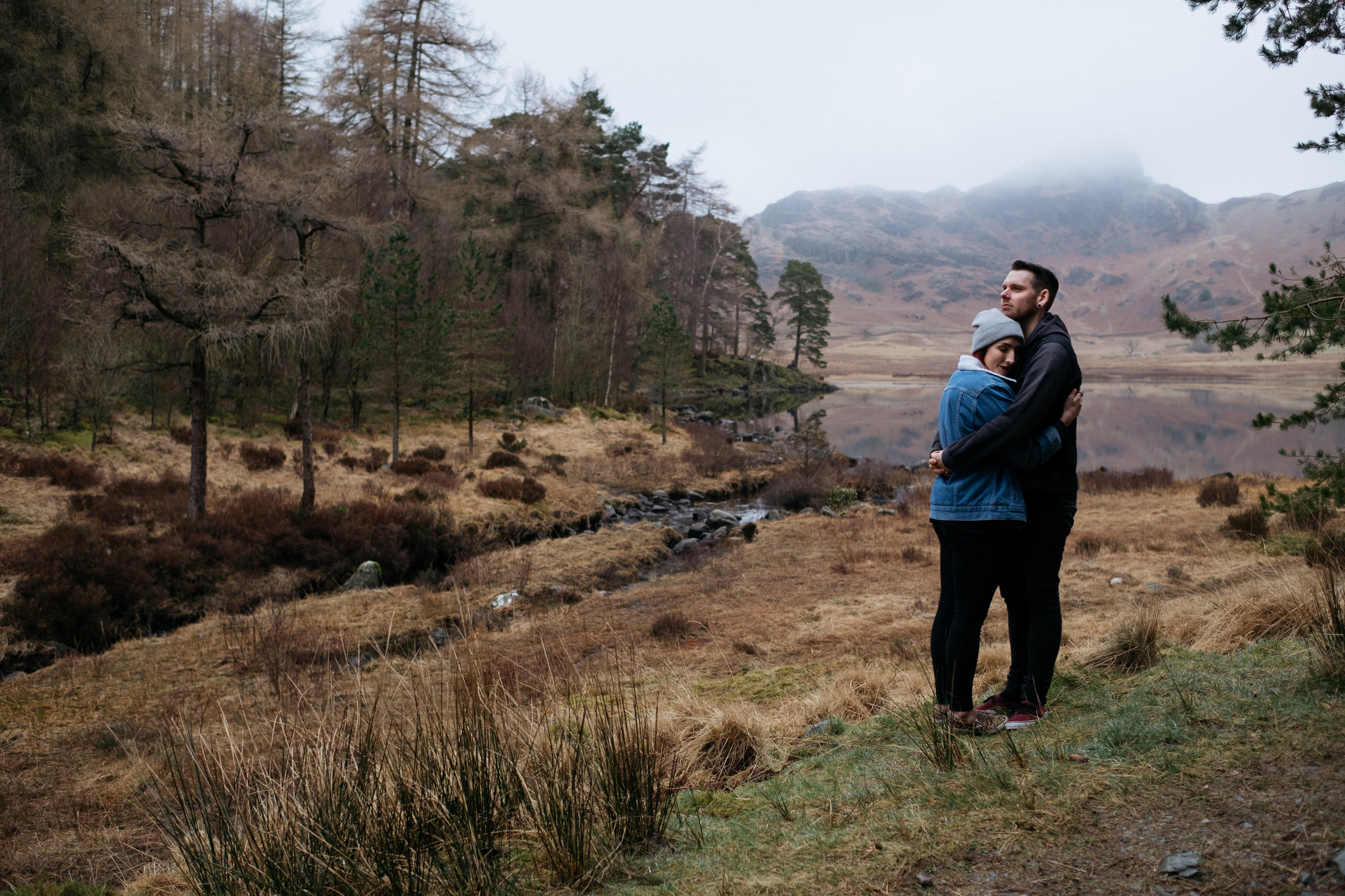 engagement shoot at Blea Tarn in the Lake District