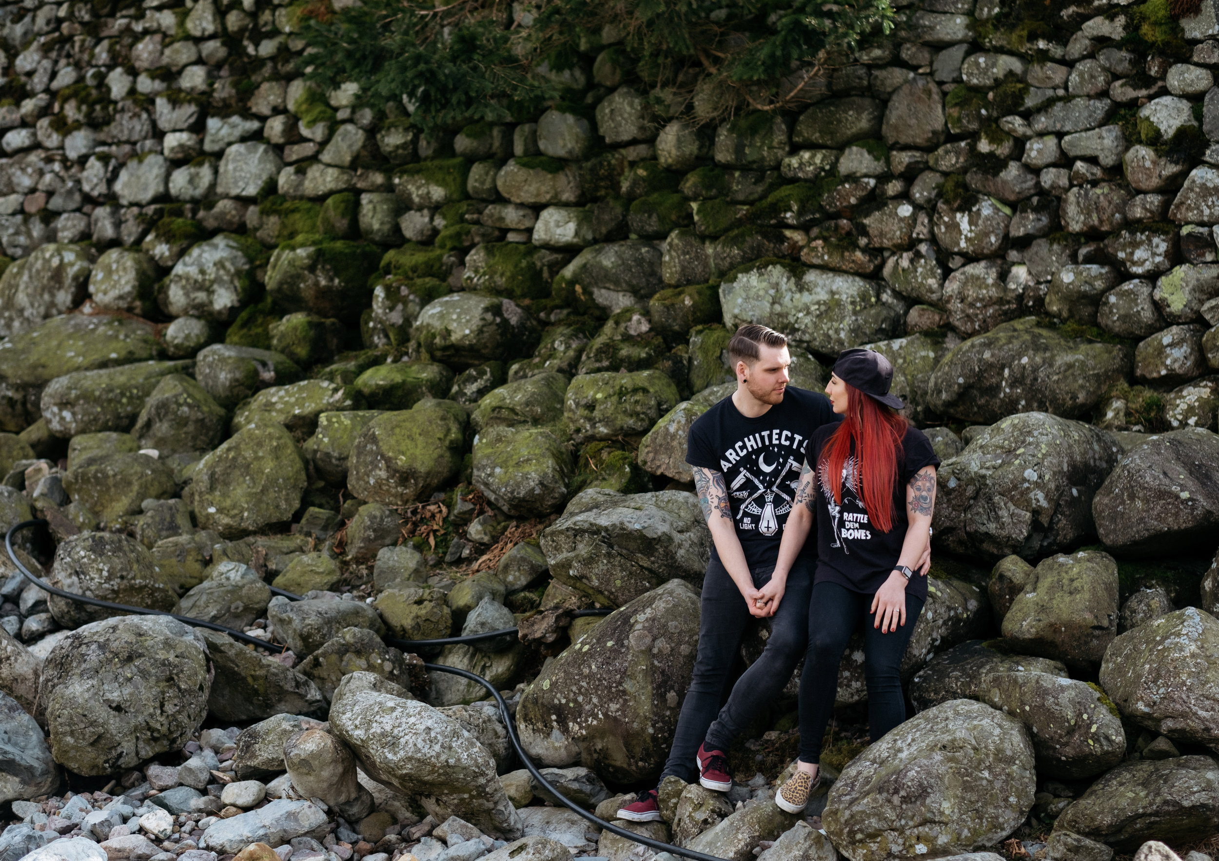 Alternative engagement shoot in the Lake District