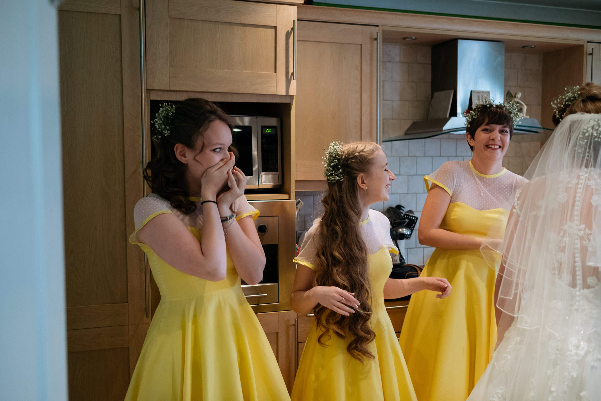 Bridesmaid reactions