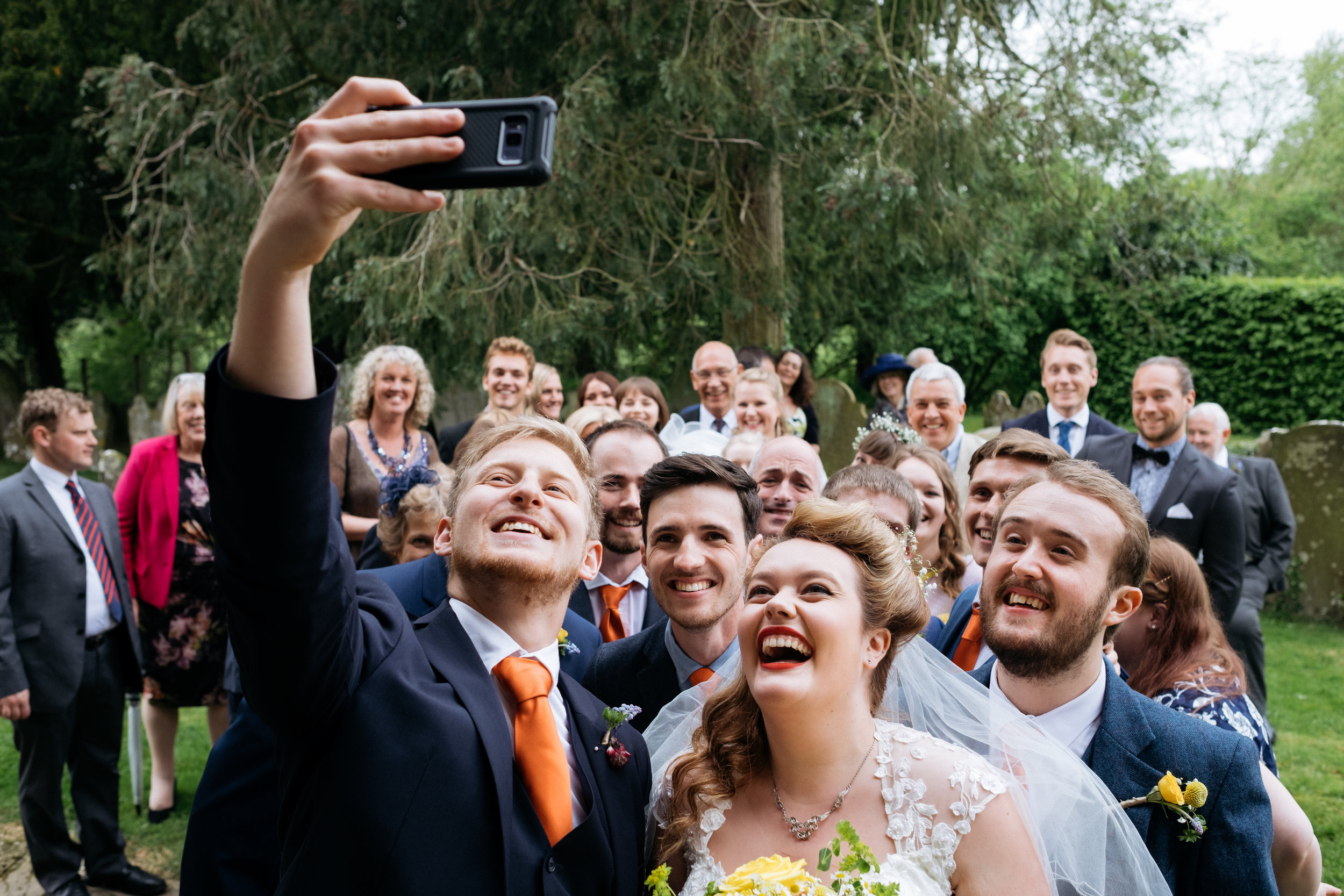 Selfie at a wedding