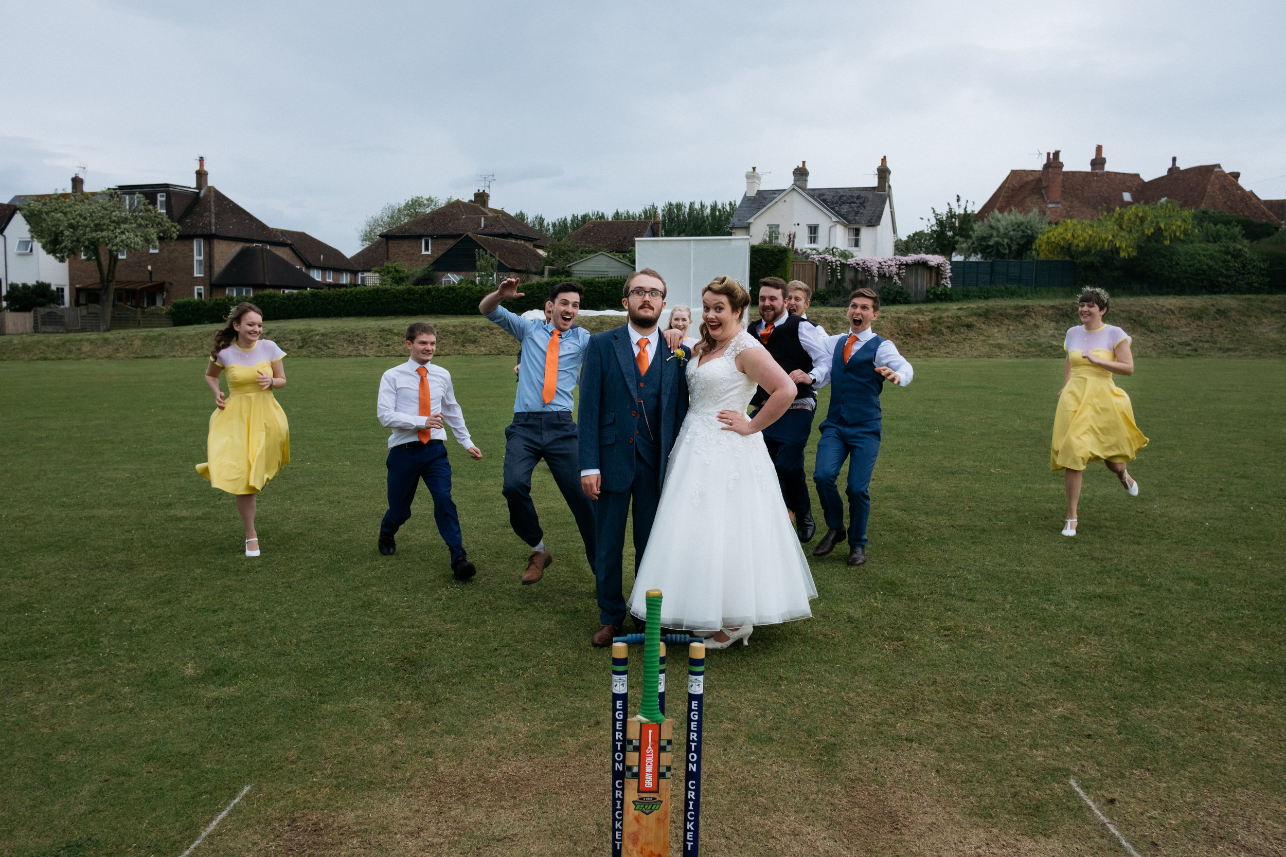 Cricket game on wedding day