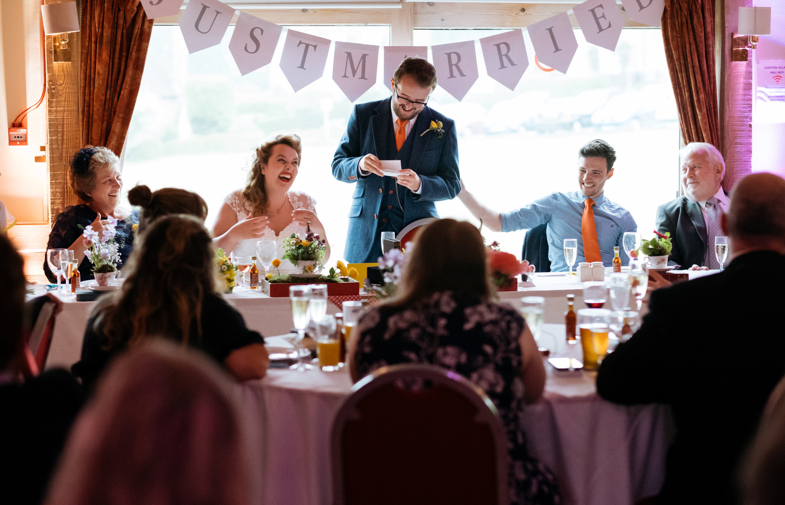Groom's speech and laughing top table