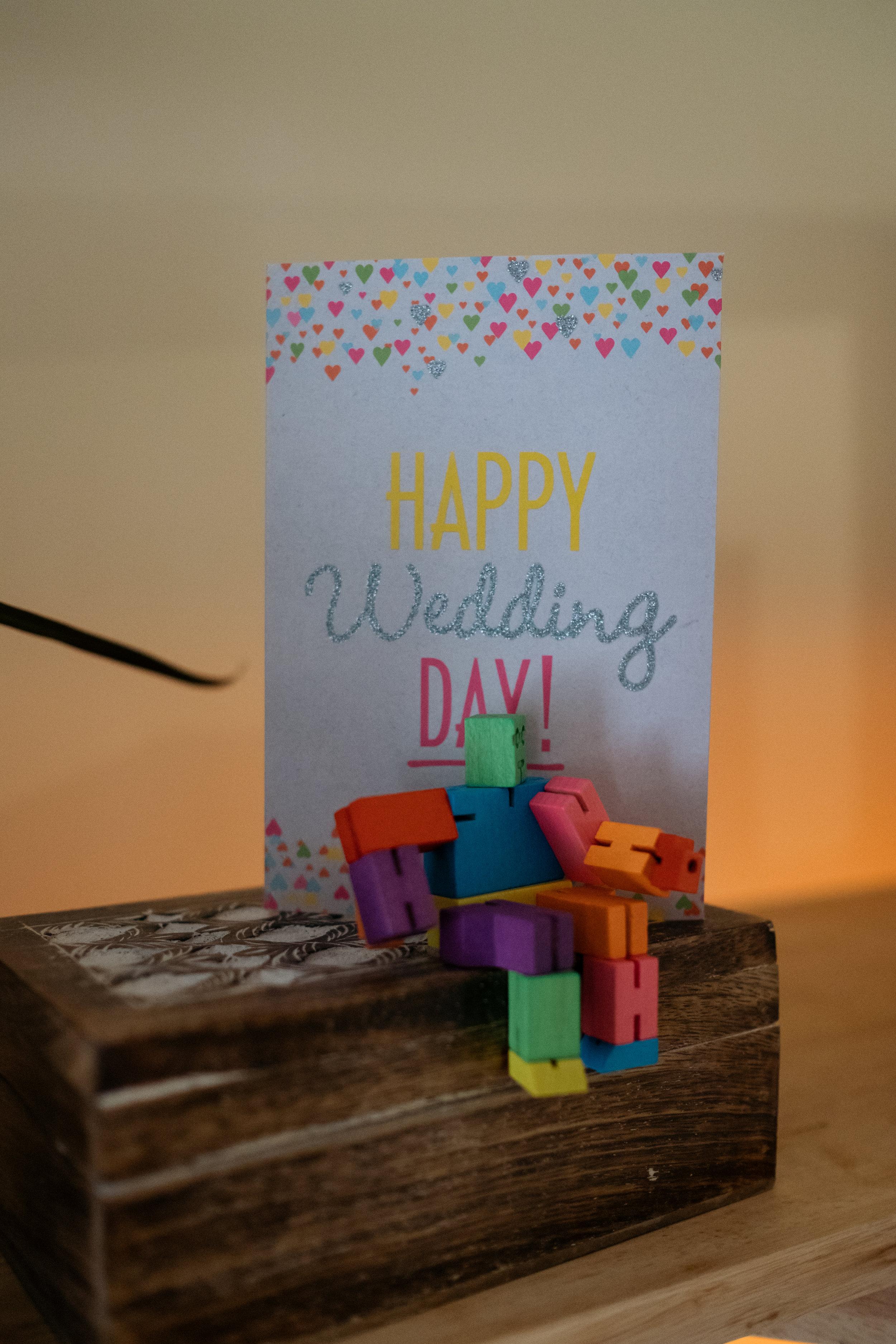 'happy wedding day' card