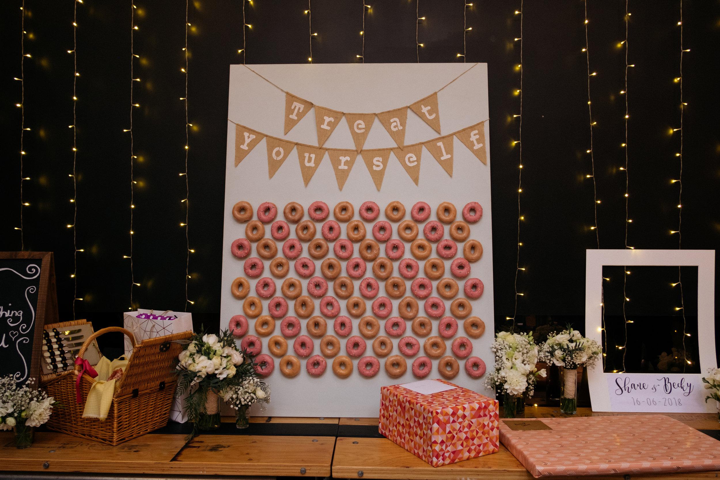 Donut wall at The Budgie Smuggler, Ringwood, VIC