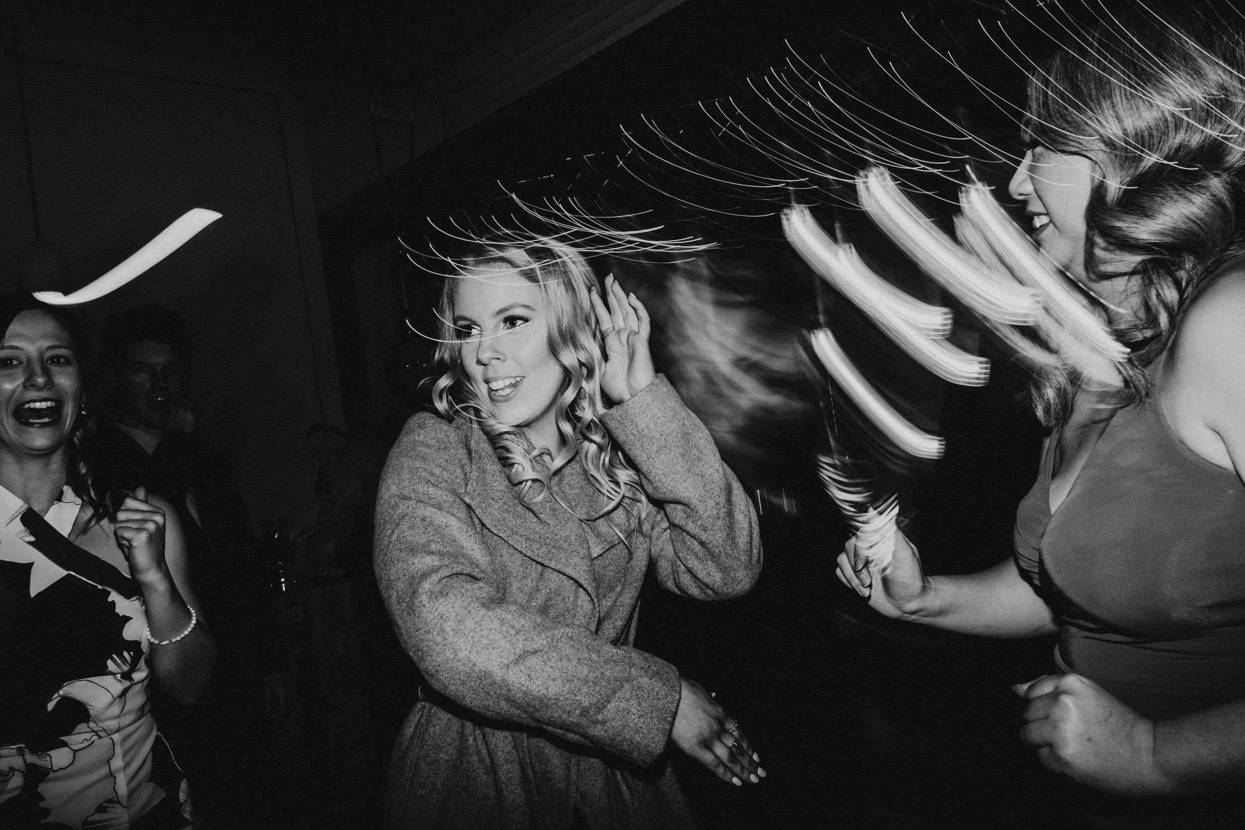Wedding guests dancing the Macarena