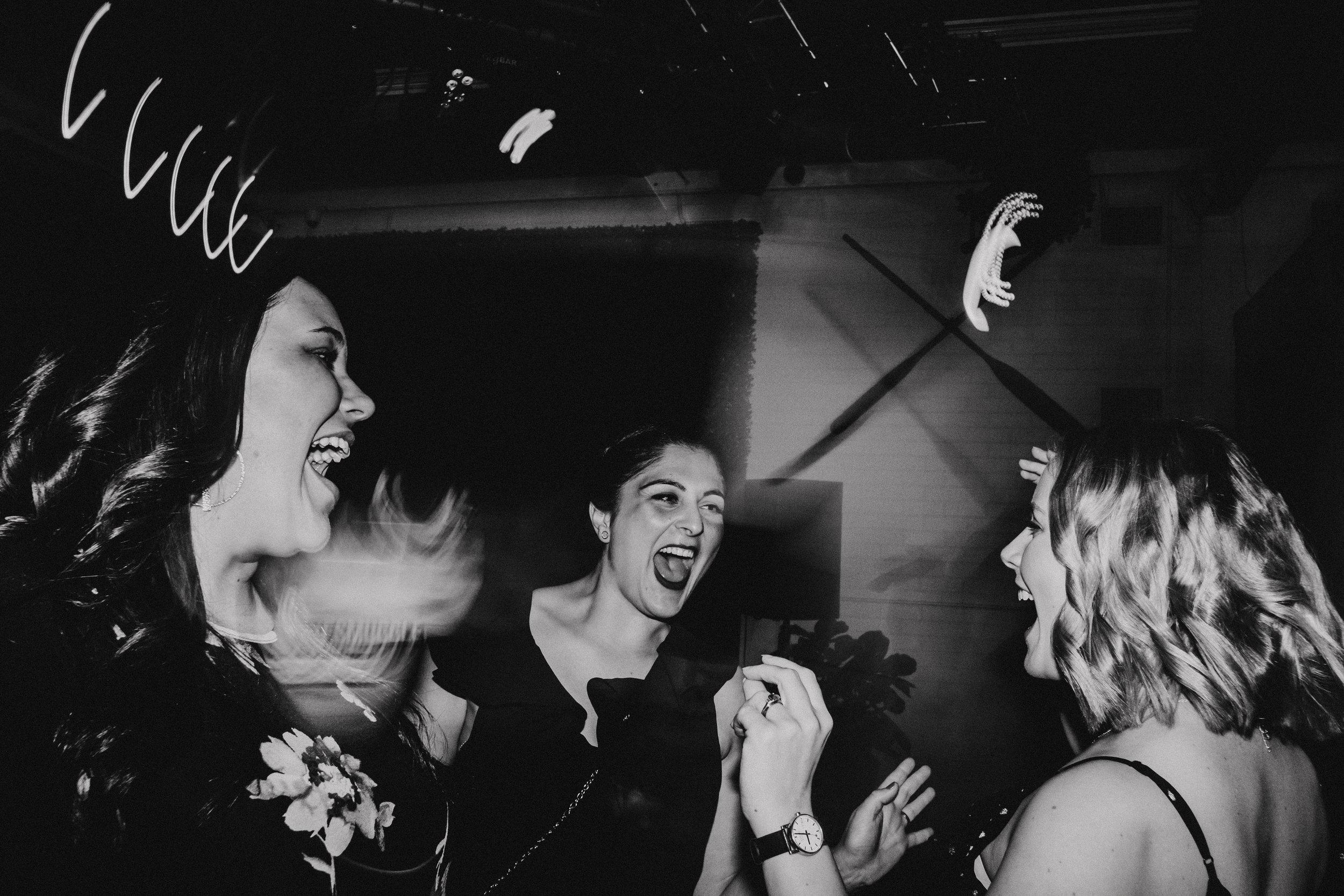Singing wedding guests