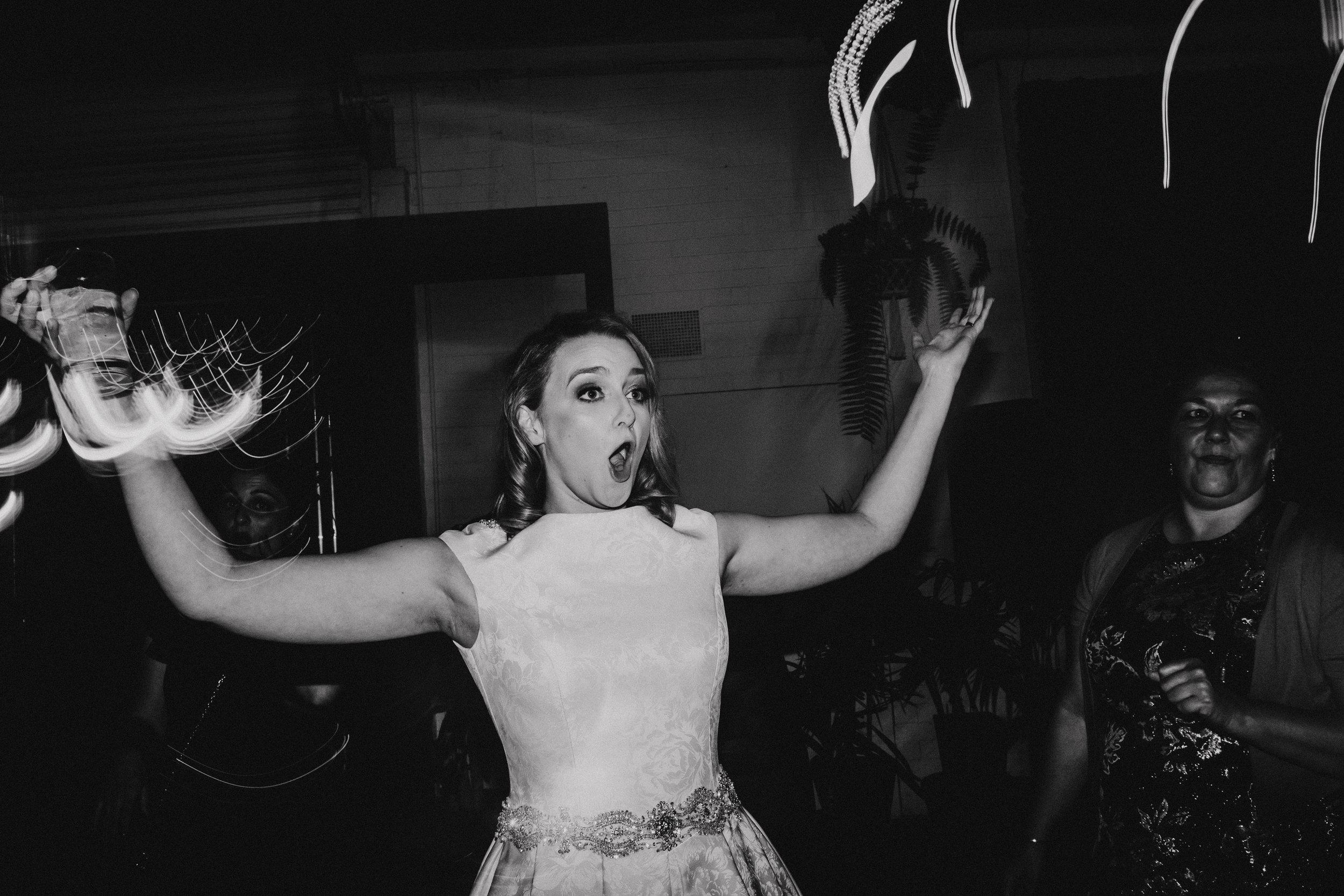 Bride dance off