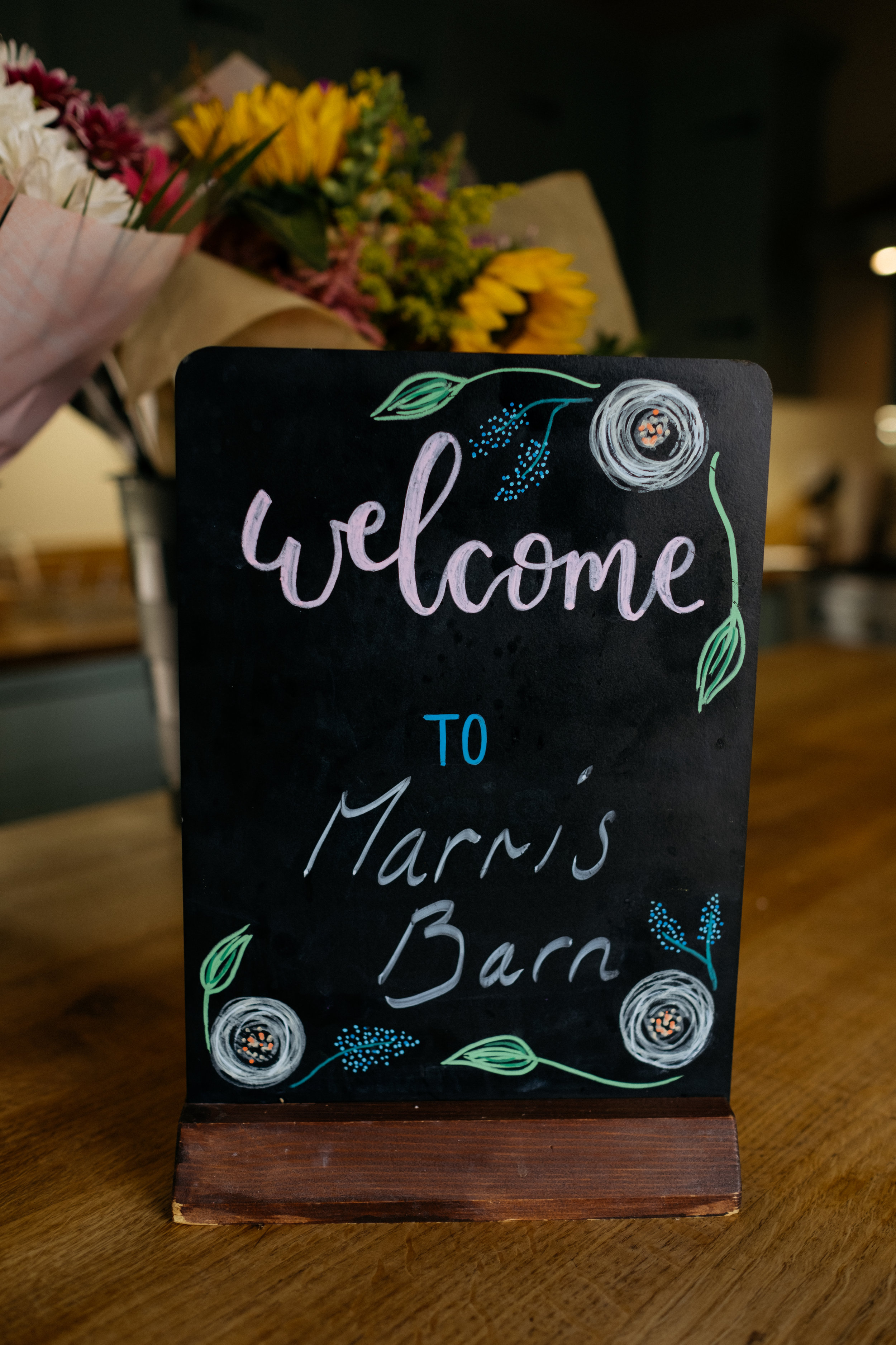 Welcome to Marris Barn sign, Thorganby, Lincolnshire