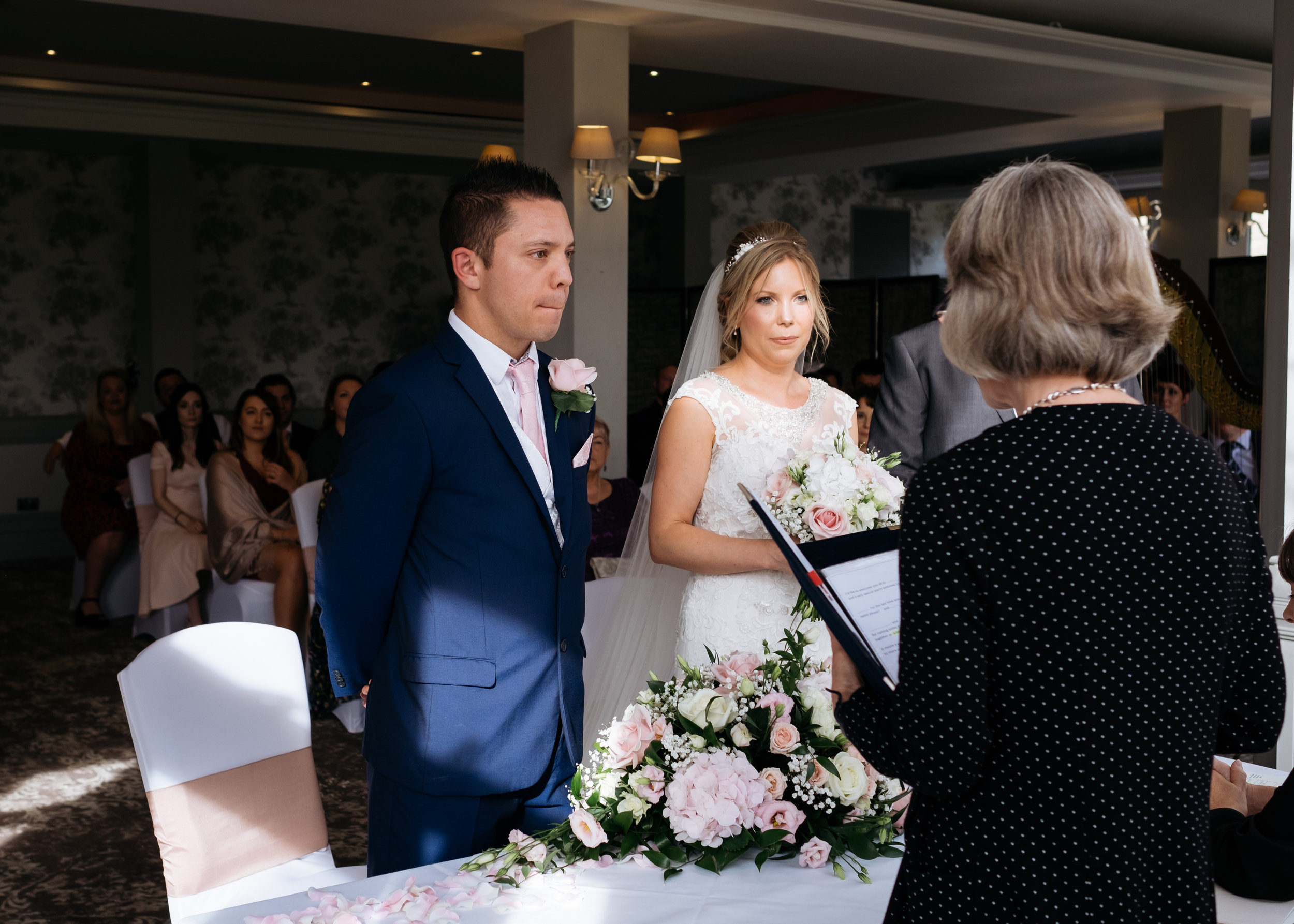 Wedding ceremony at Mercure Newbury Elcot Park Hotel
