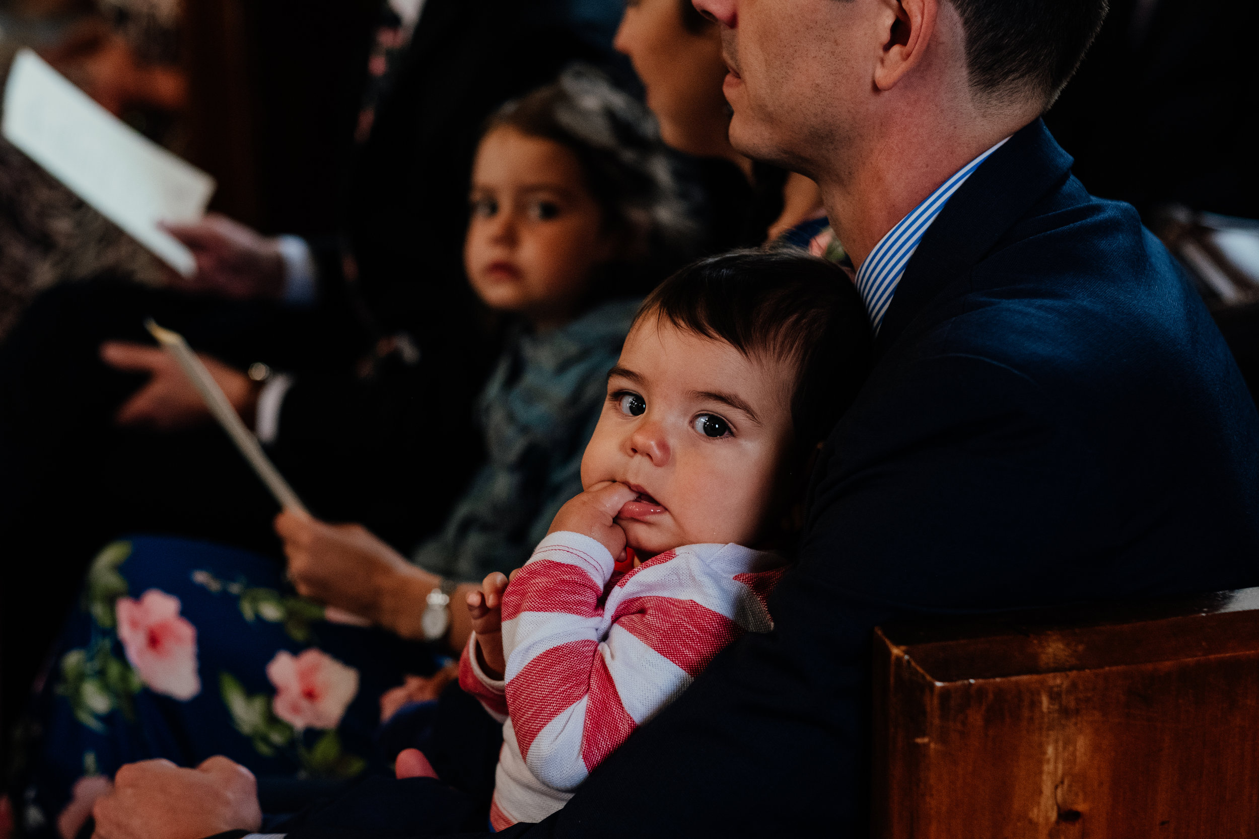Cute toddler at wedding