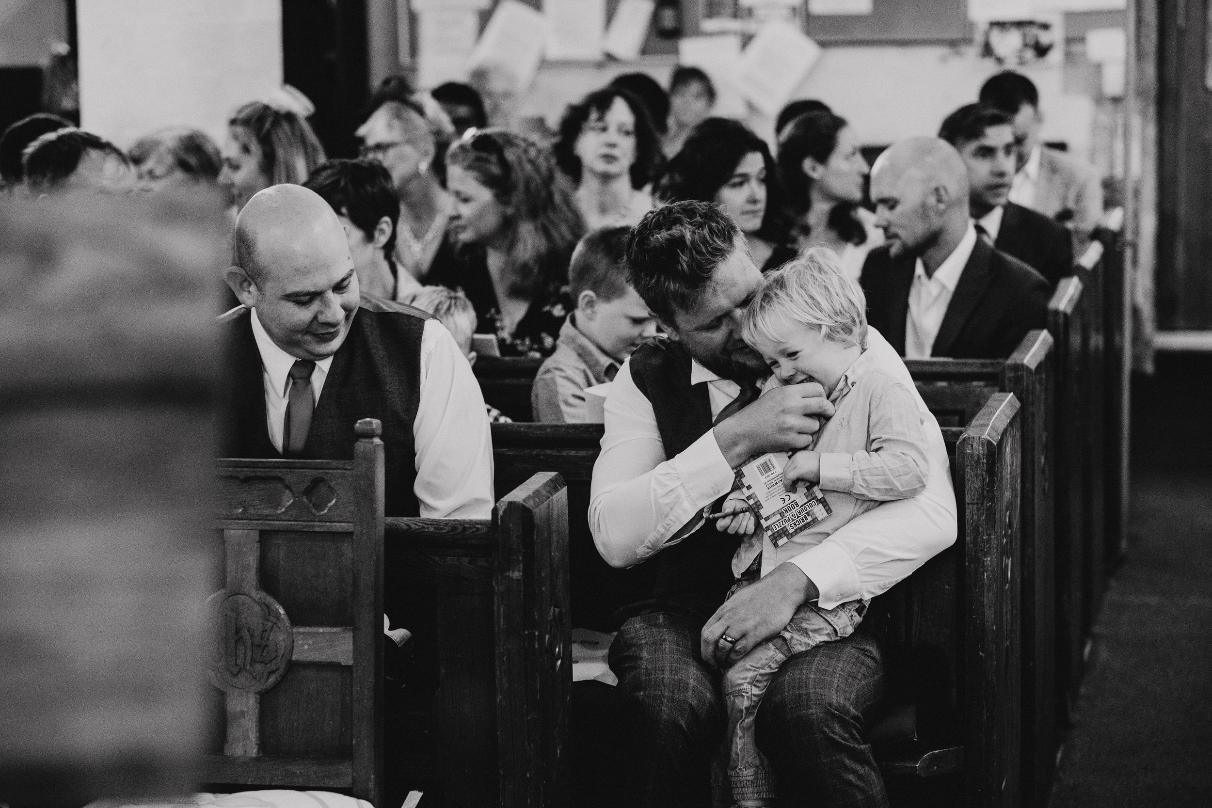 Kids being cute at a wedding