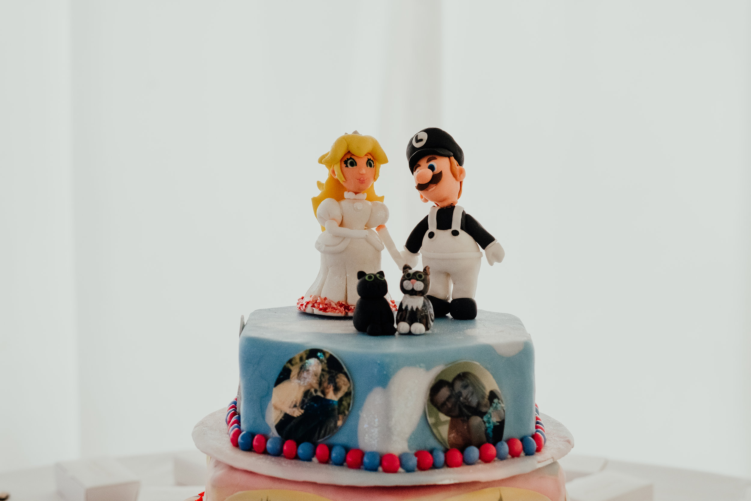 Bride and groom handmade cake topper