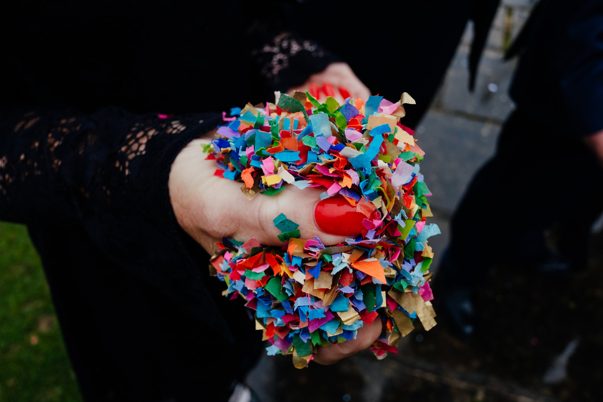 Colourful eco friendly confetti