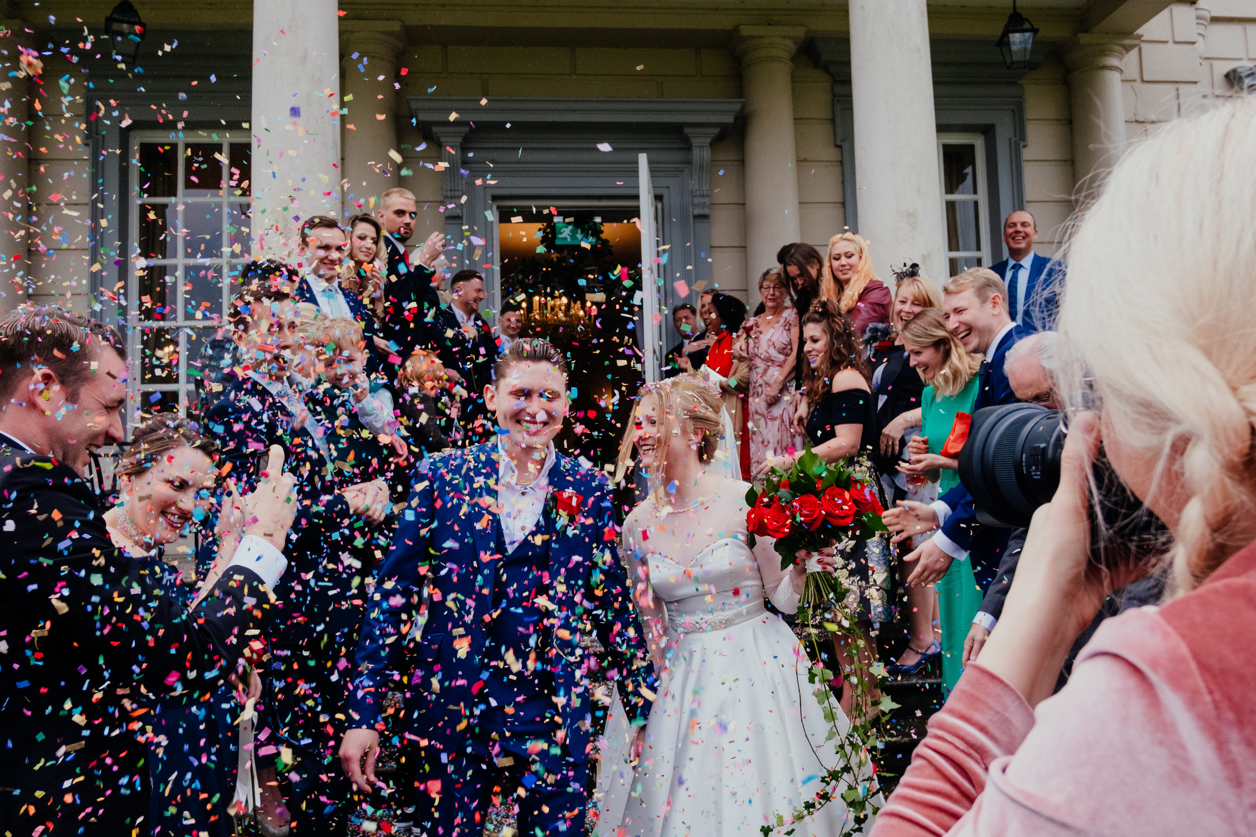 Buxted House Hotel eco friendly confetti