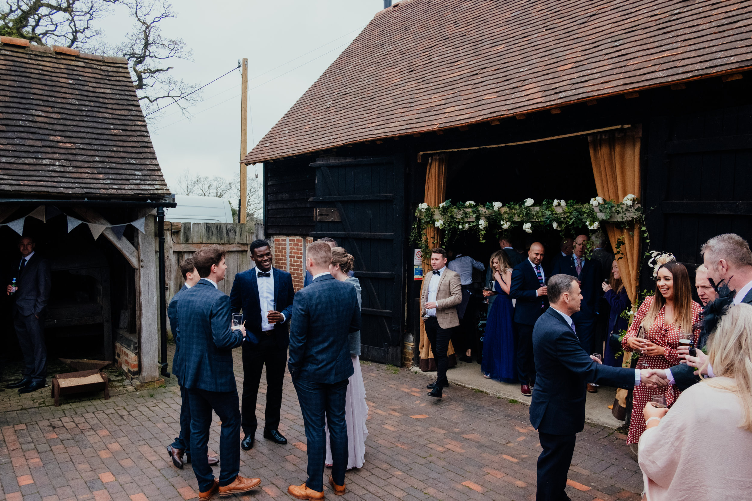Wedding reception at Gildings Barn
