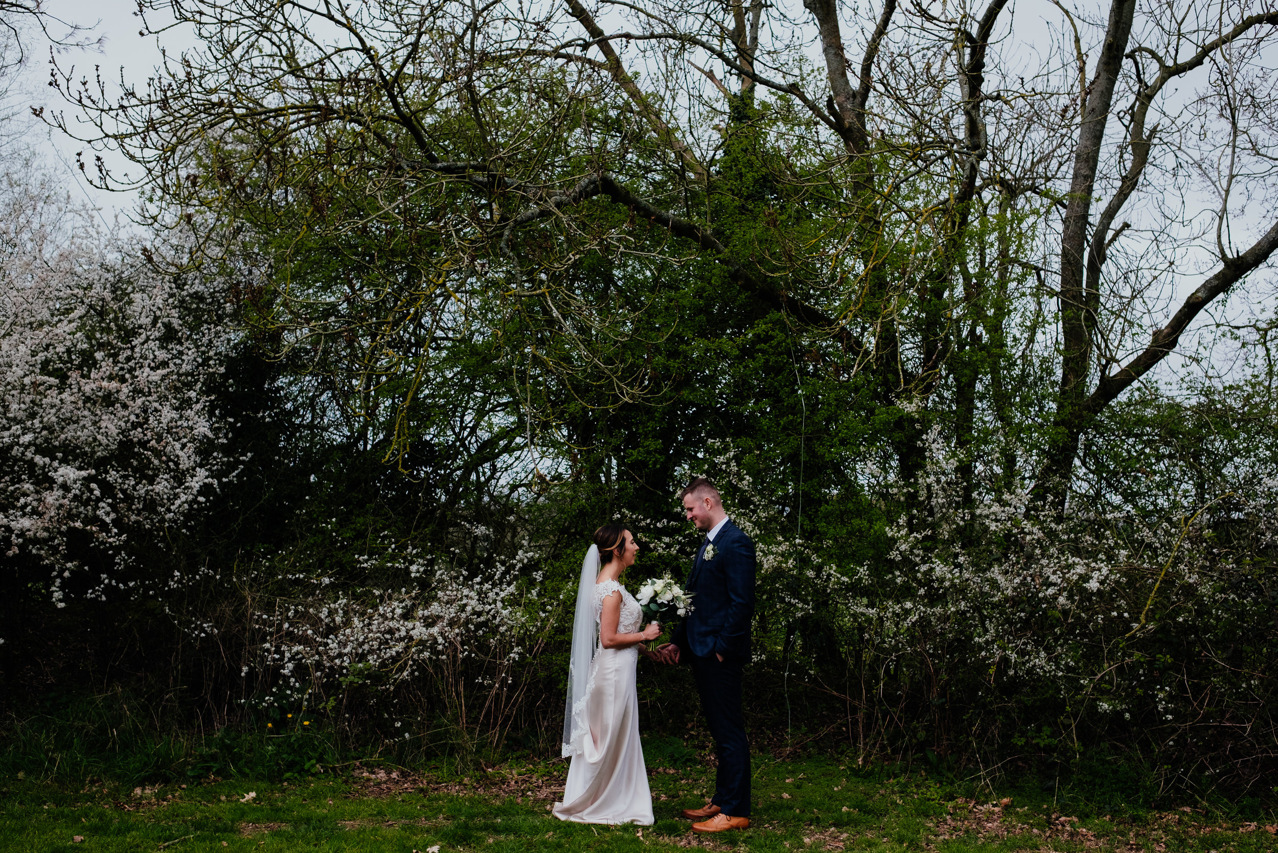 Bride and Groom portraits at Gildings Barn
