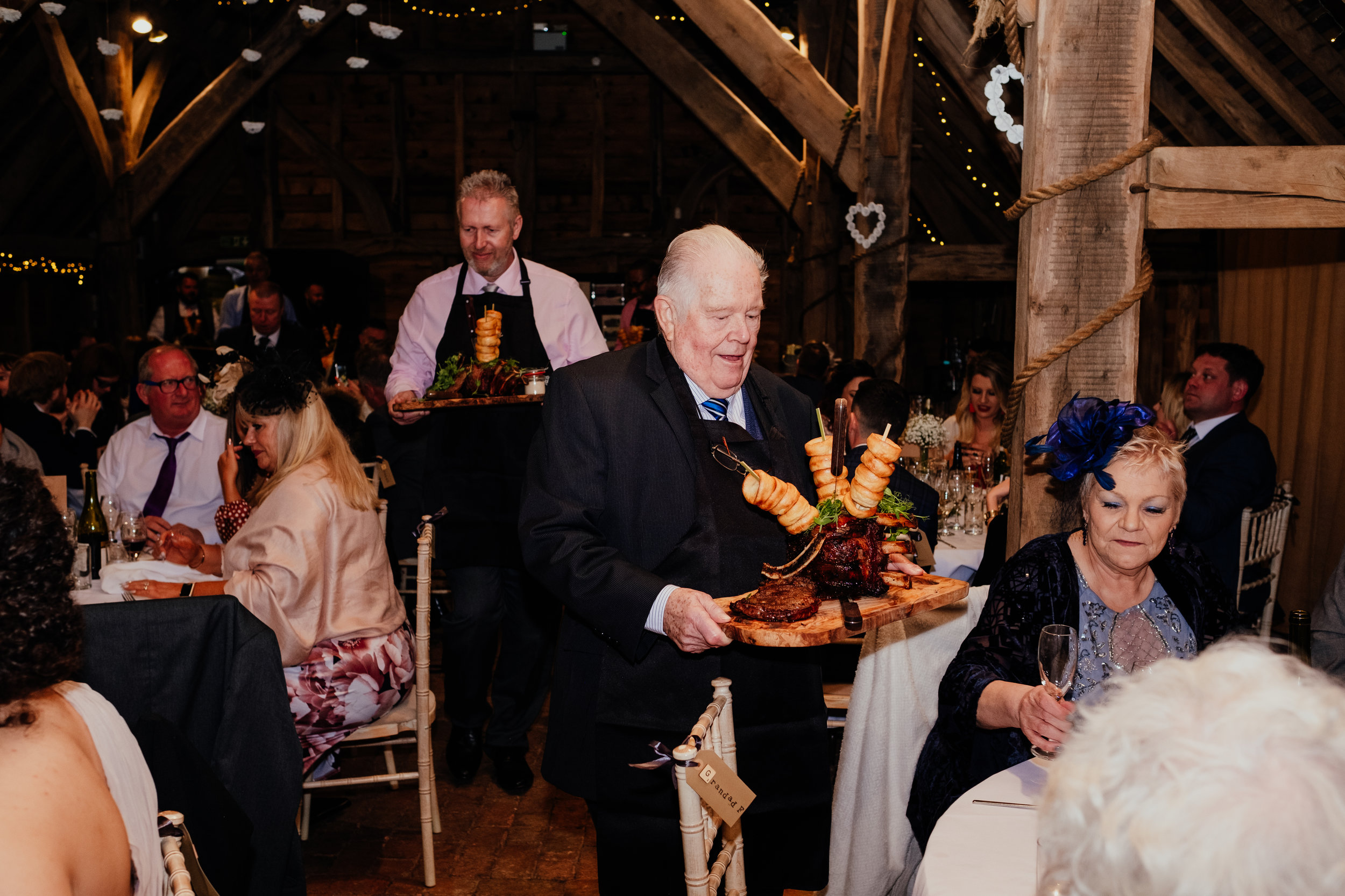 Guests bring carvery to their tables at Gildings Barn