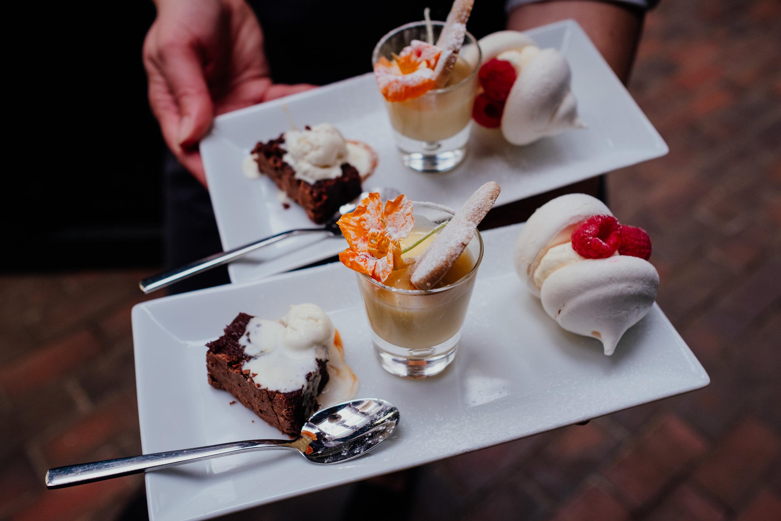 Wedding dessert at Gildings Barn