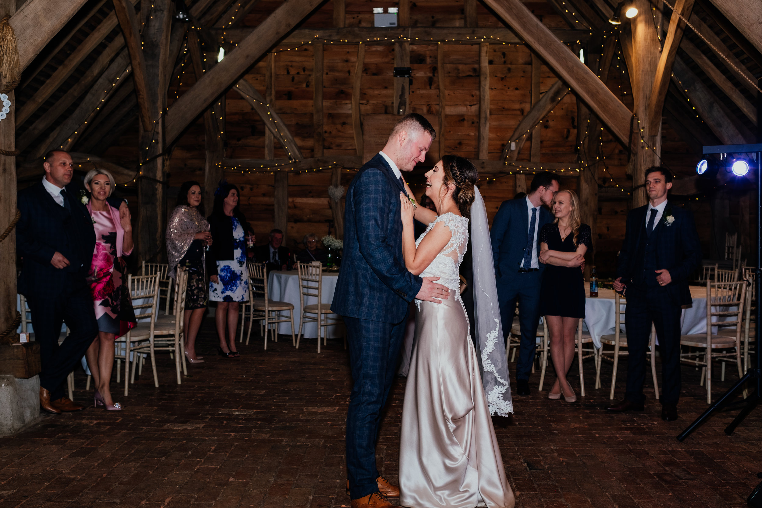 Bride and Groom first dance at Gildings Barn wedding