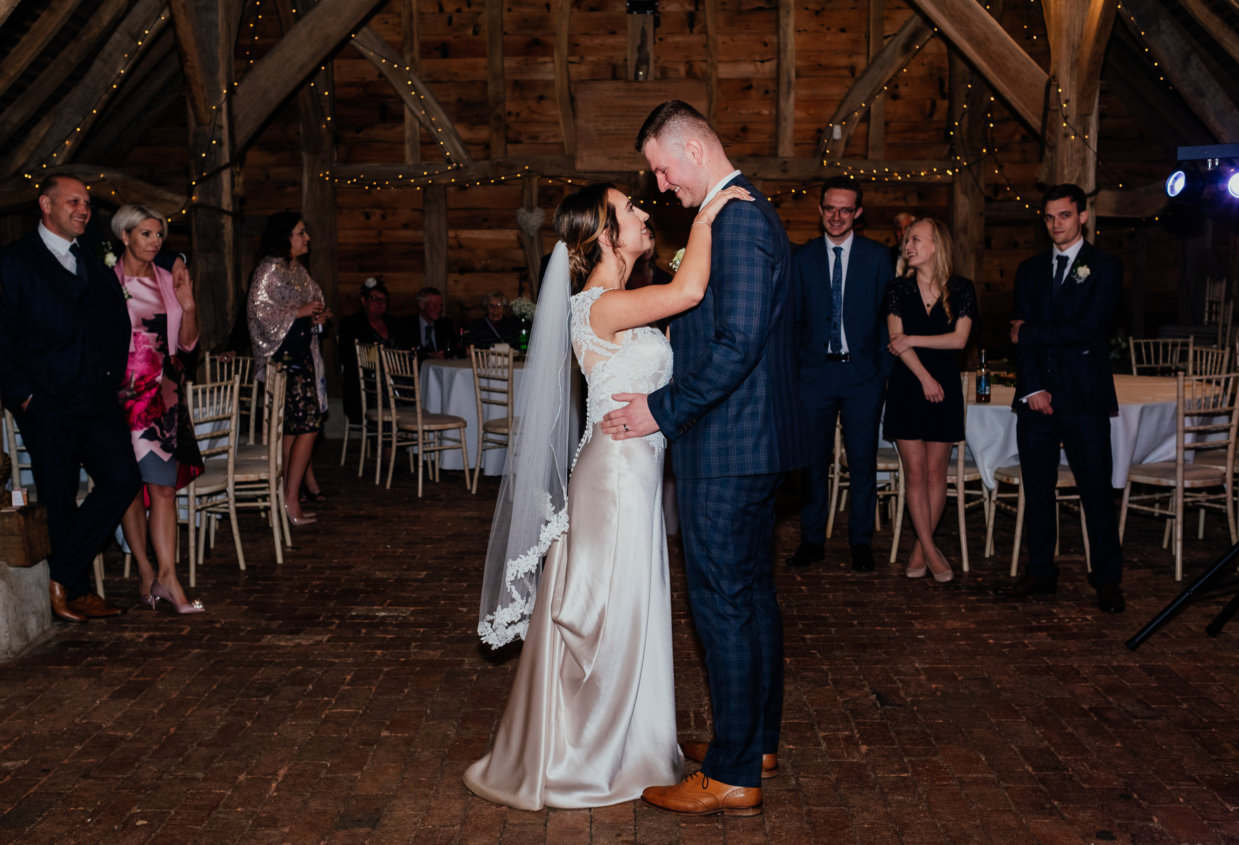 First dance at Gildings Barn wedding