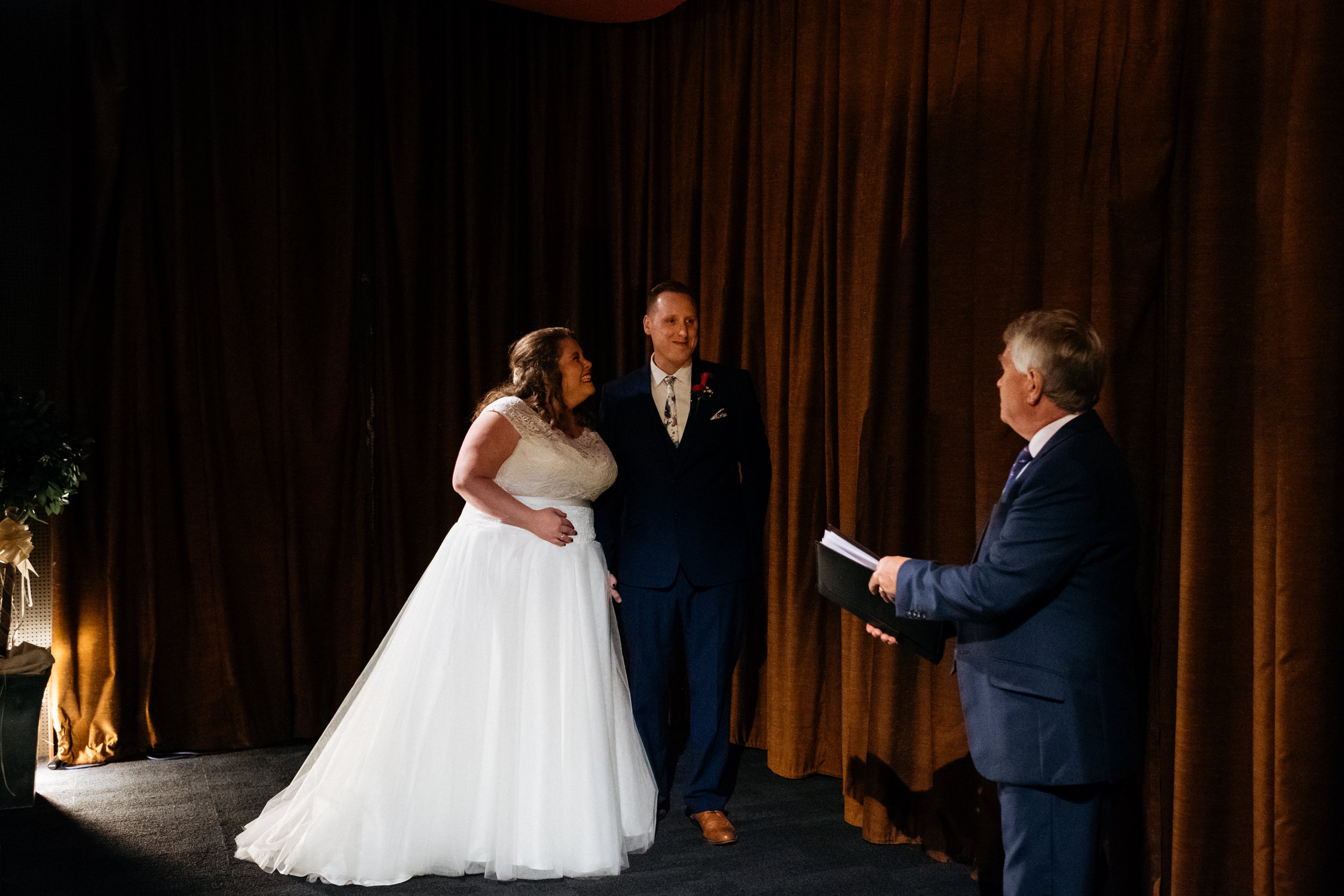Wedding ceremony at the Little Theatre in Bath