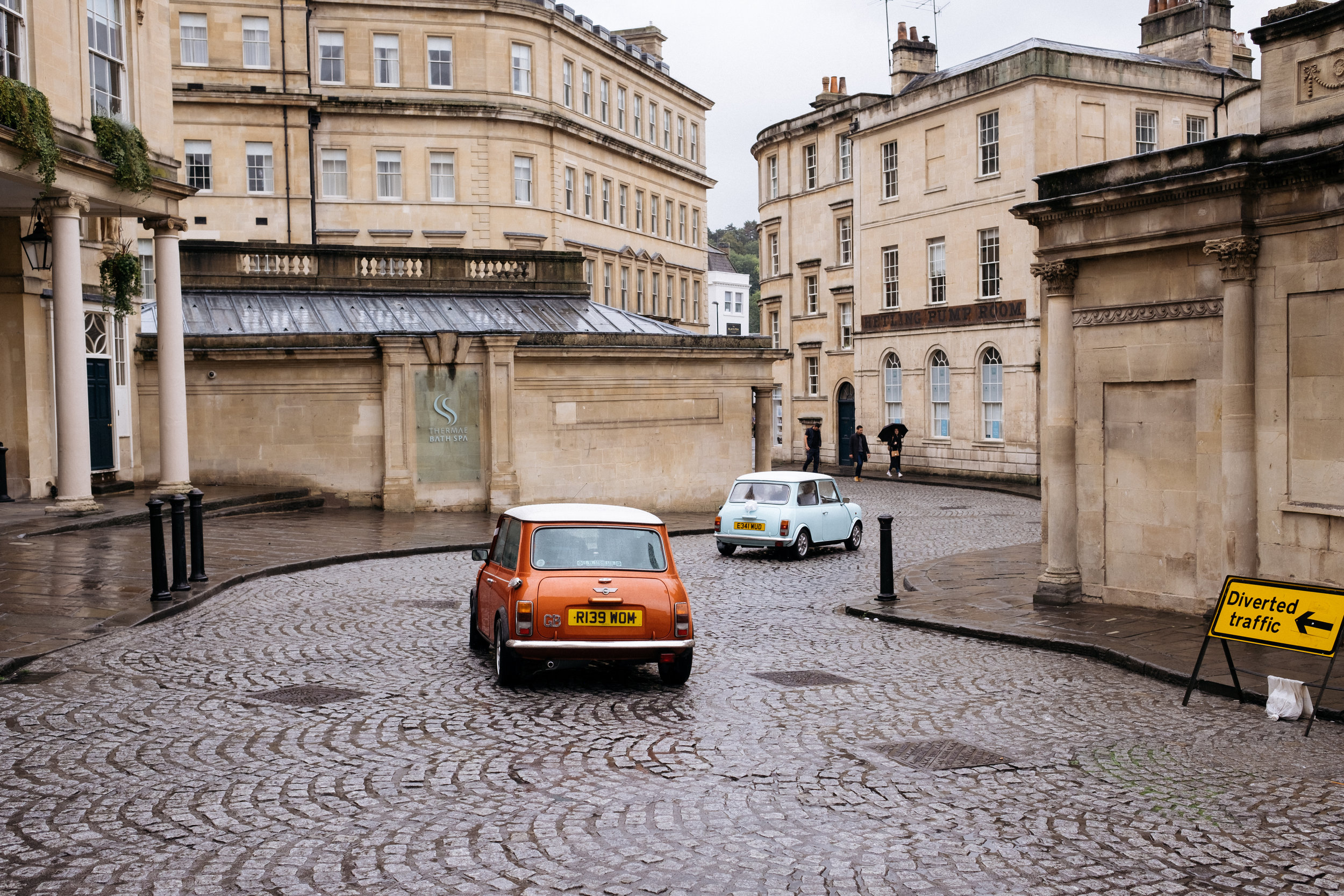 Classic mini wedding cars in Bath
