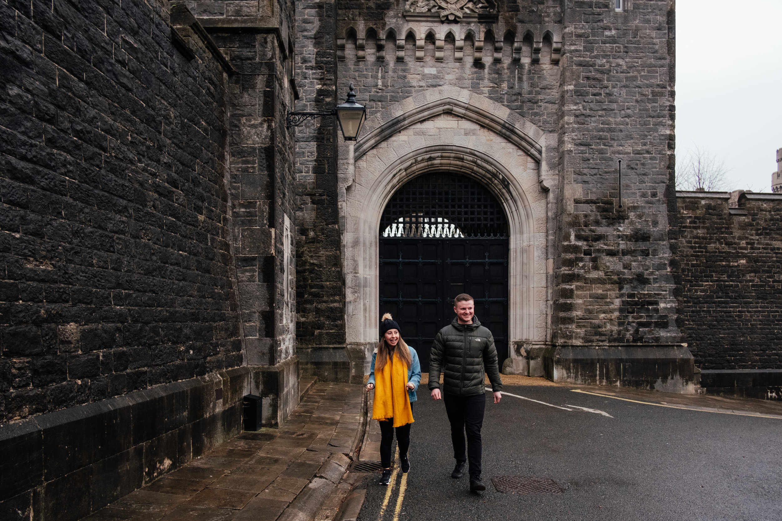 Arundel castle engagement shoot in winter