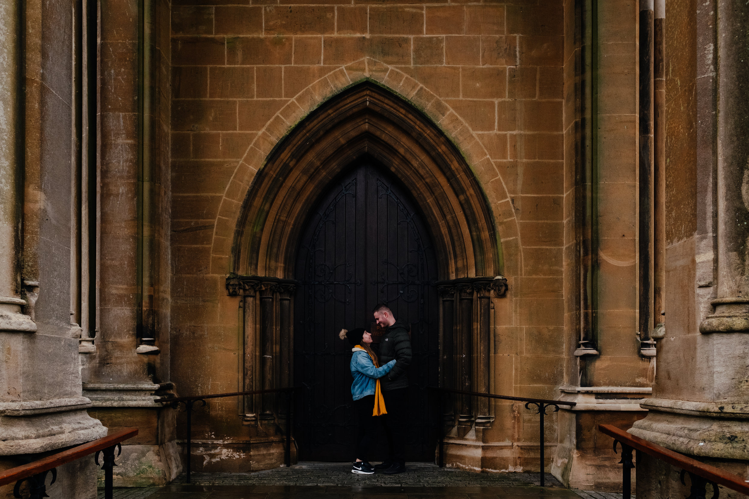 Arundel Cathedral Engagement Shoot Winter