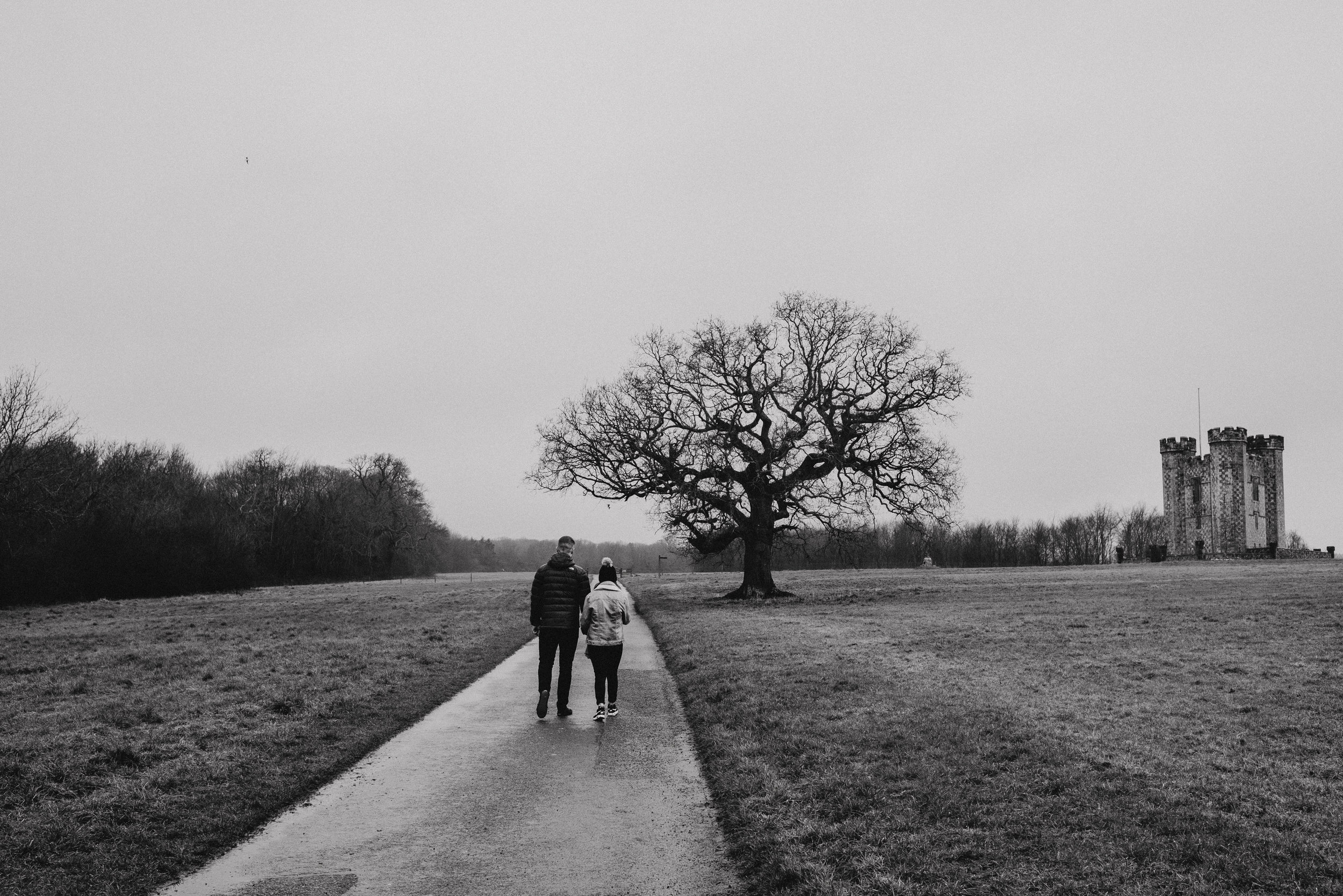 Winter engagement shoot in Arundel