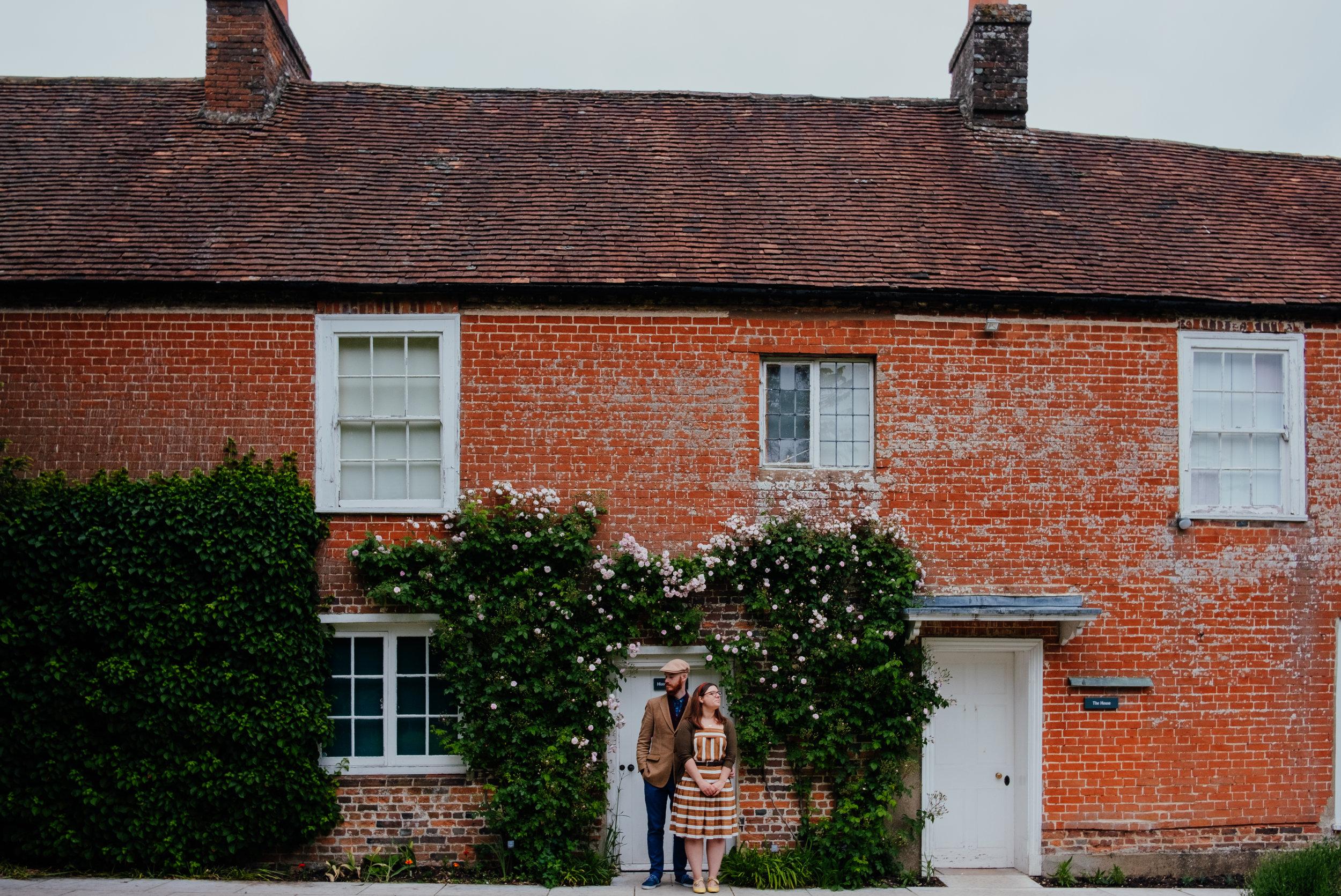 Jane Austen's House Museum engagement shoot