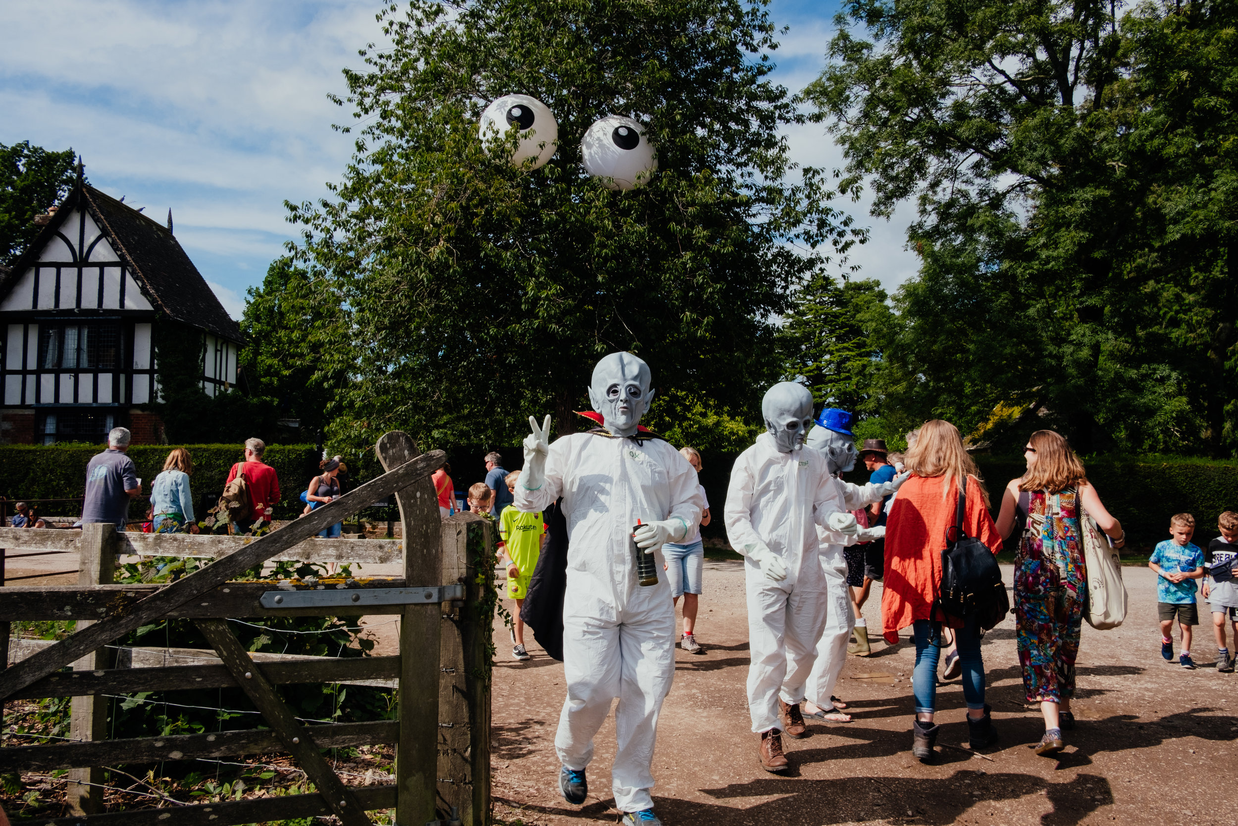 Larmer Tree Festival alien fancy dress 2019