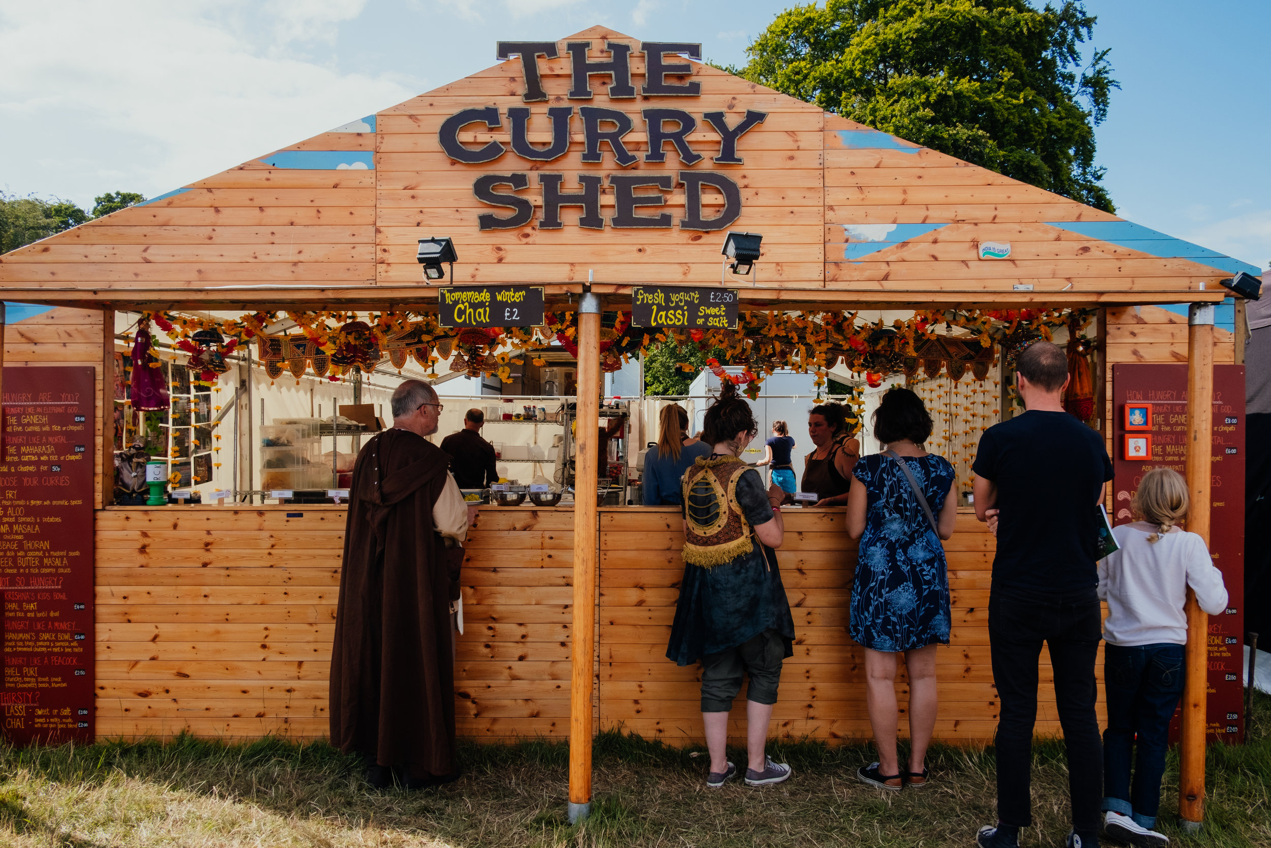 Larmer Tree Festival 2019 The Curry Shed