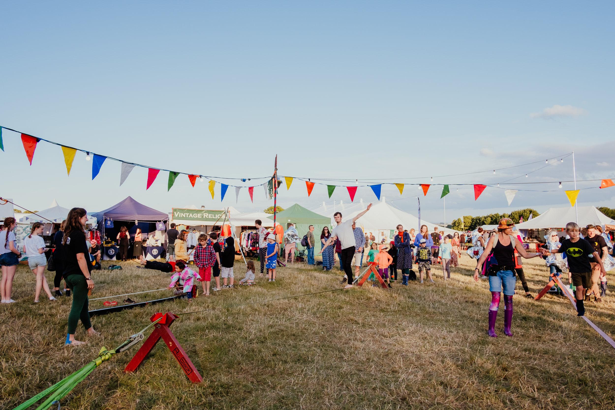 Larmer Tree Festival slacklining